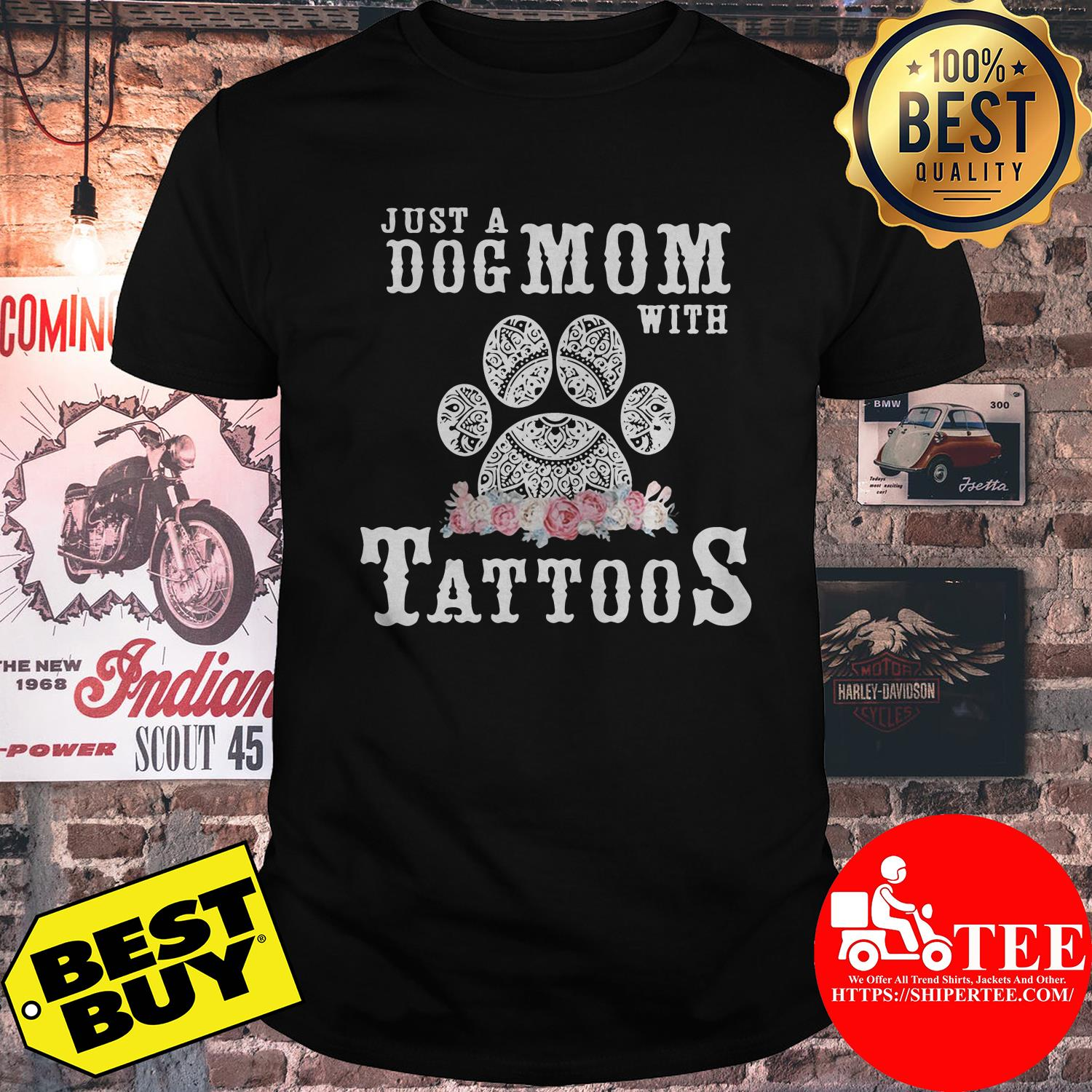 Just a dog mom with tattoos shirt