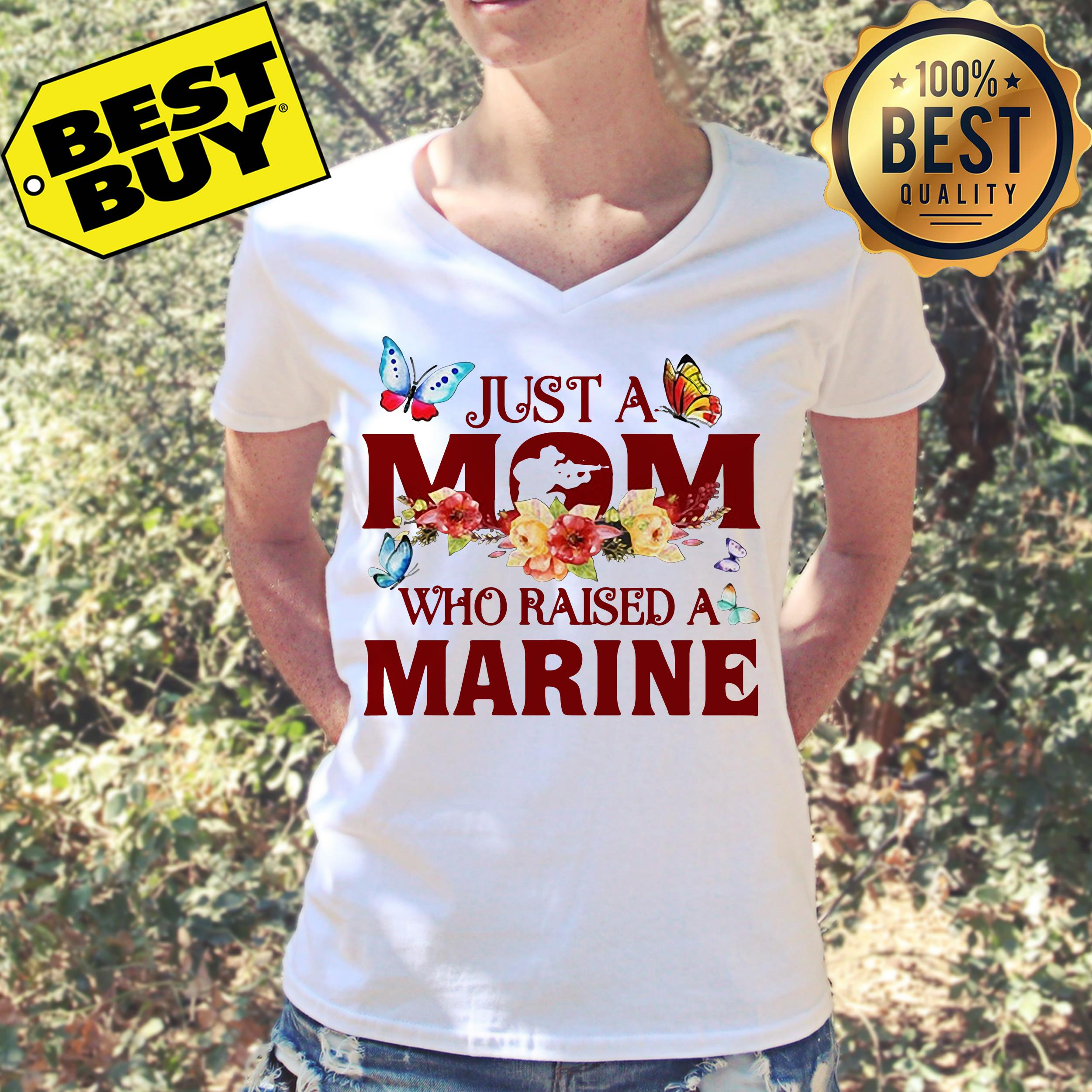 Just a mom who raised a marine v-neck