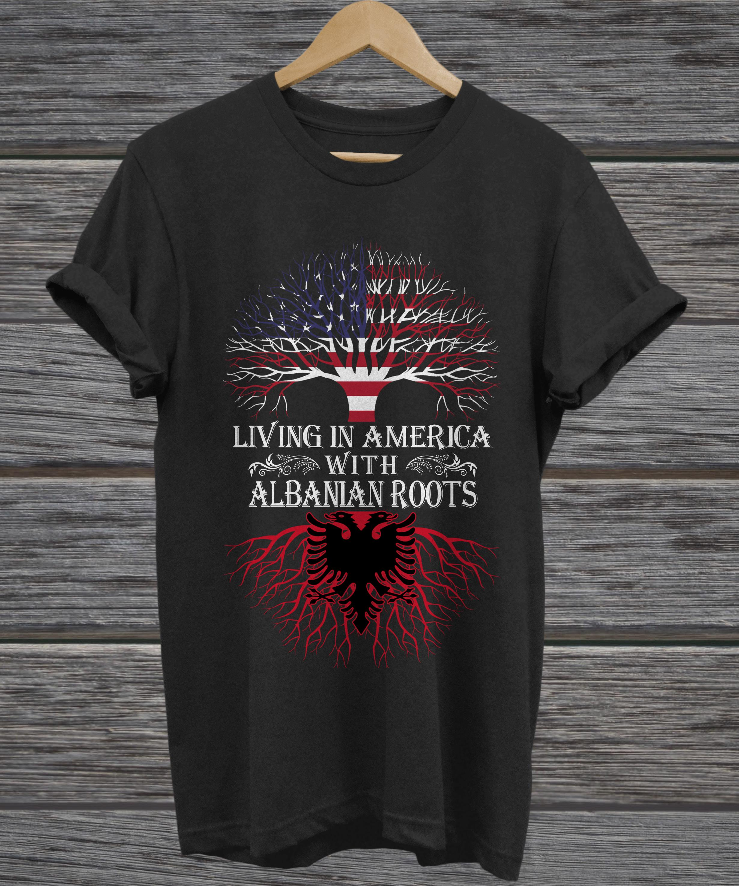 Living in America with Albanian roots hoodie