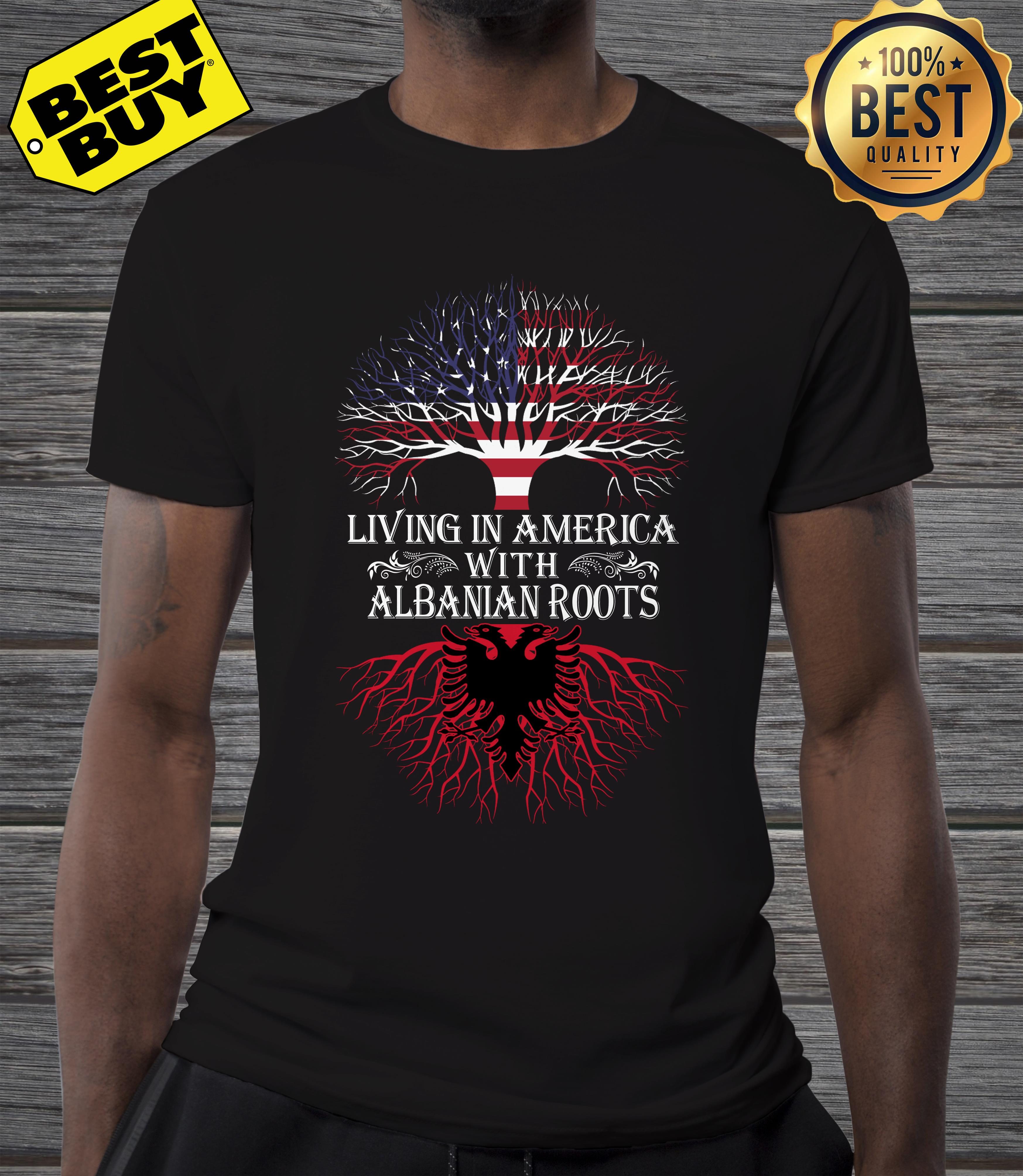 Living in America with Albanian roots v neck