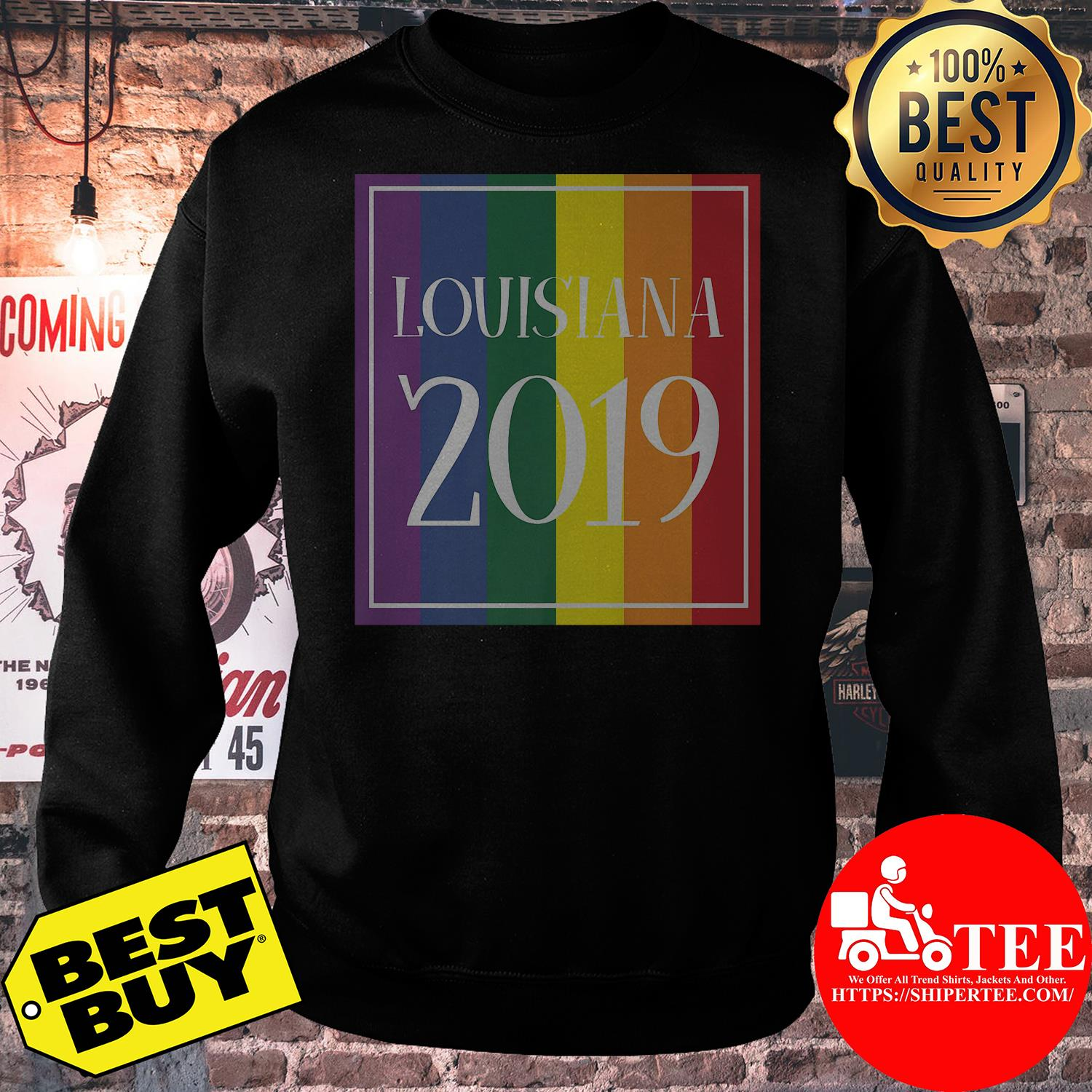 Louisiana LGBT Pride 2019 Gay Rainbow Flag sweatshirt