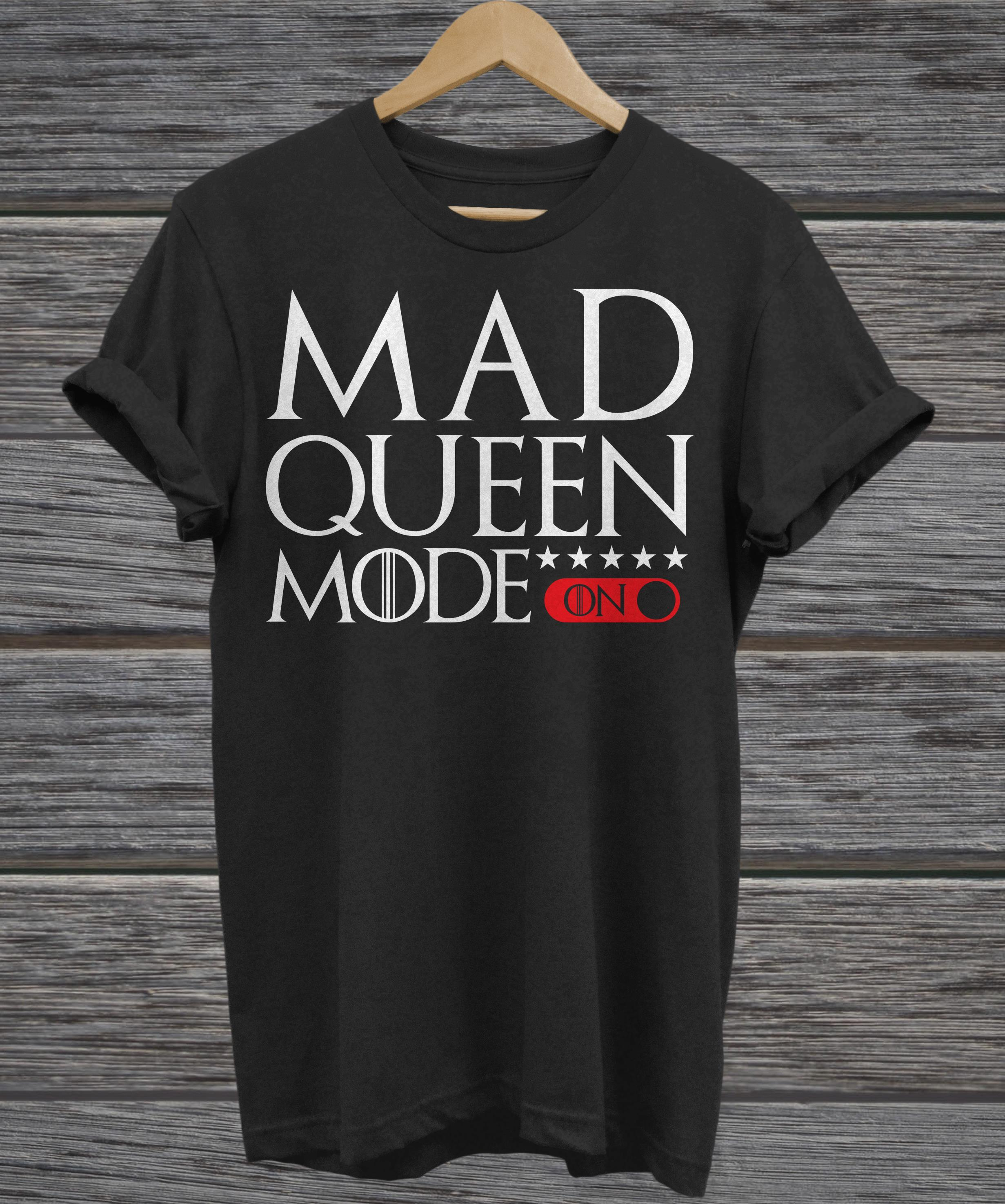 Mad Queen mode Game of Thrones v-neck
