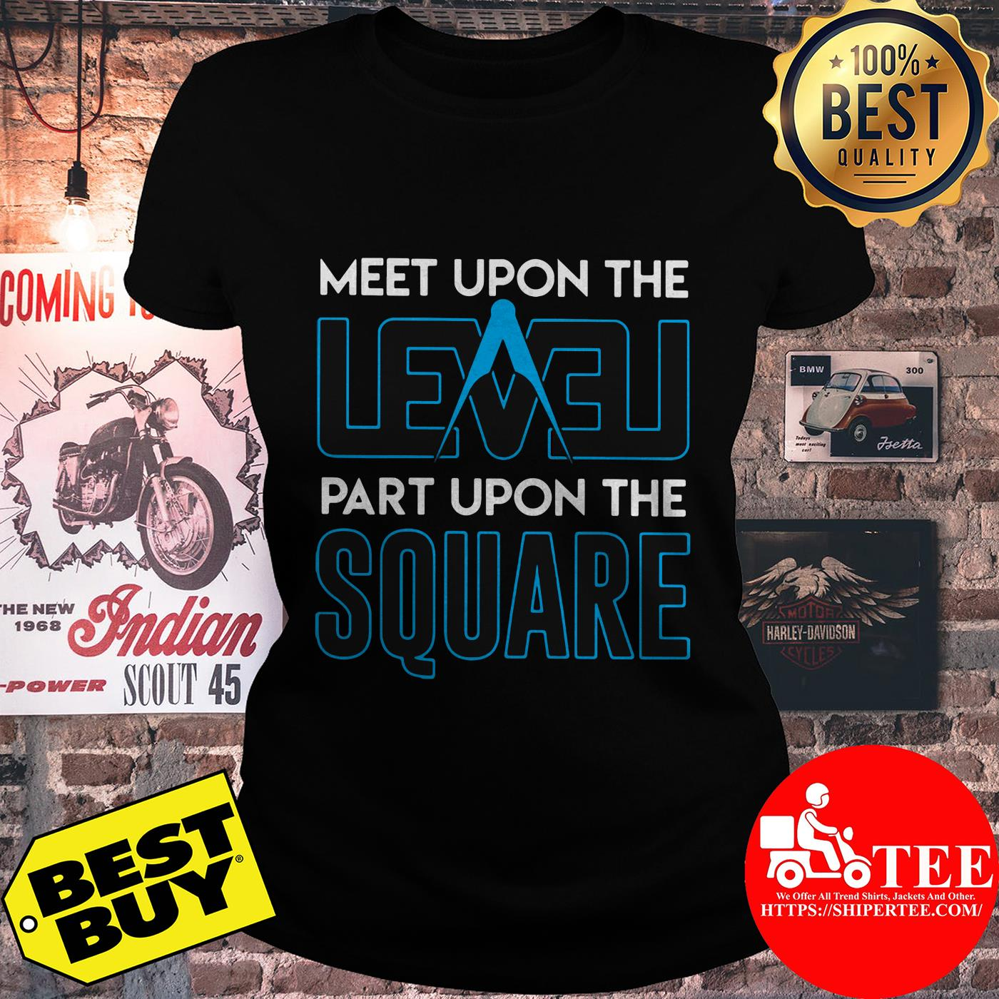 Meet upon the level part upon the square compass ladies tee