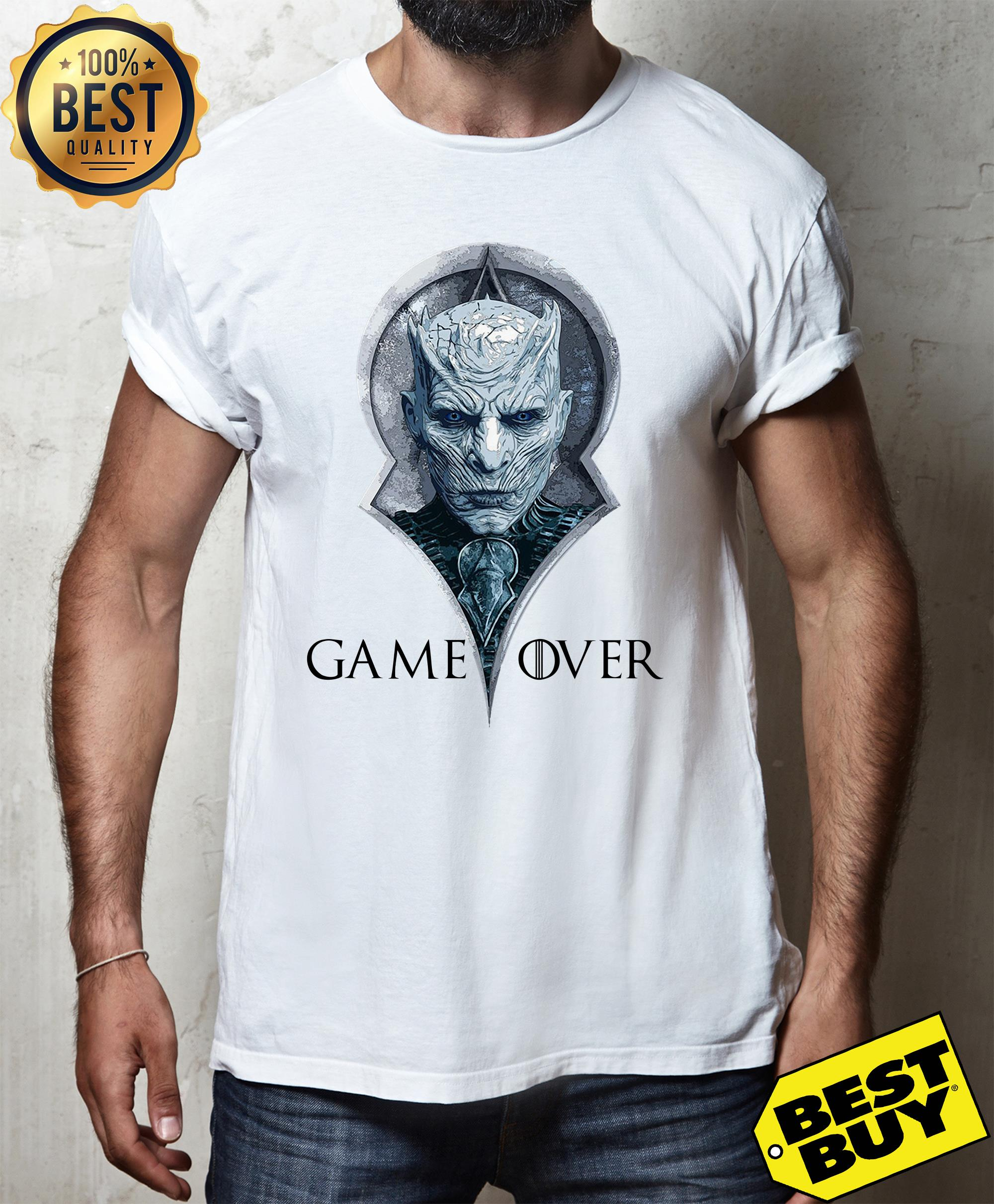 Night king game over Game of Thrones shirt