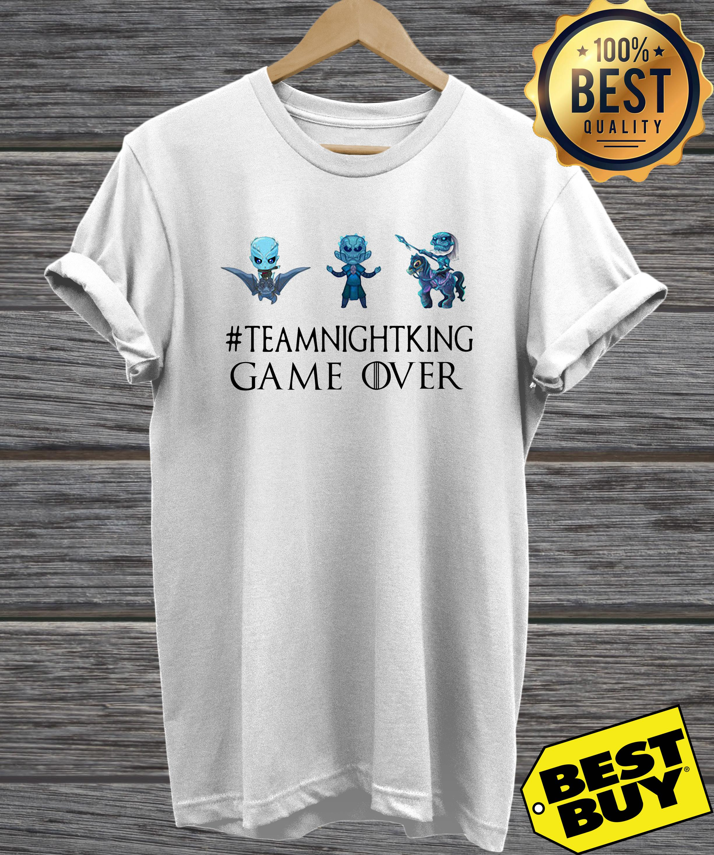 Night King #teamnightking Game over Game of Thrones hoodie