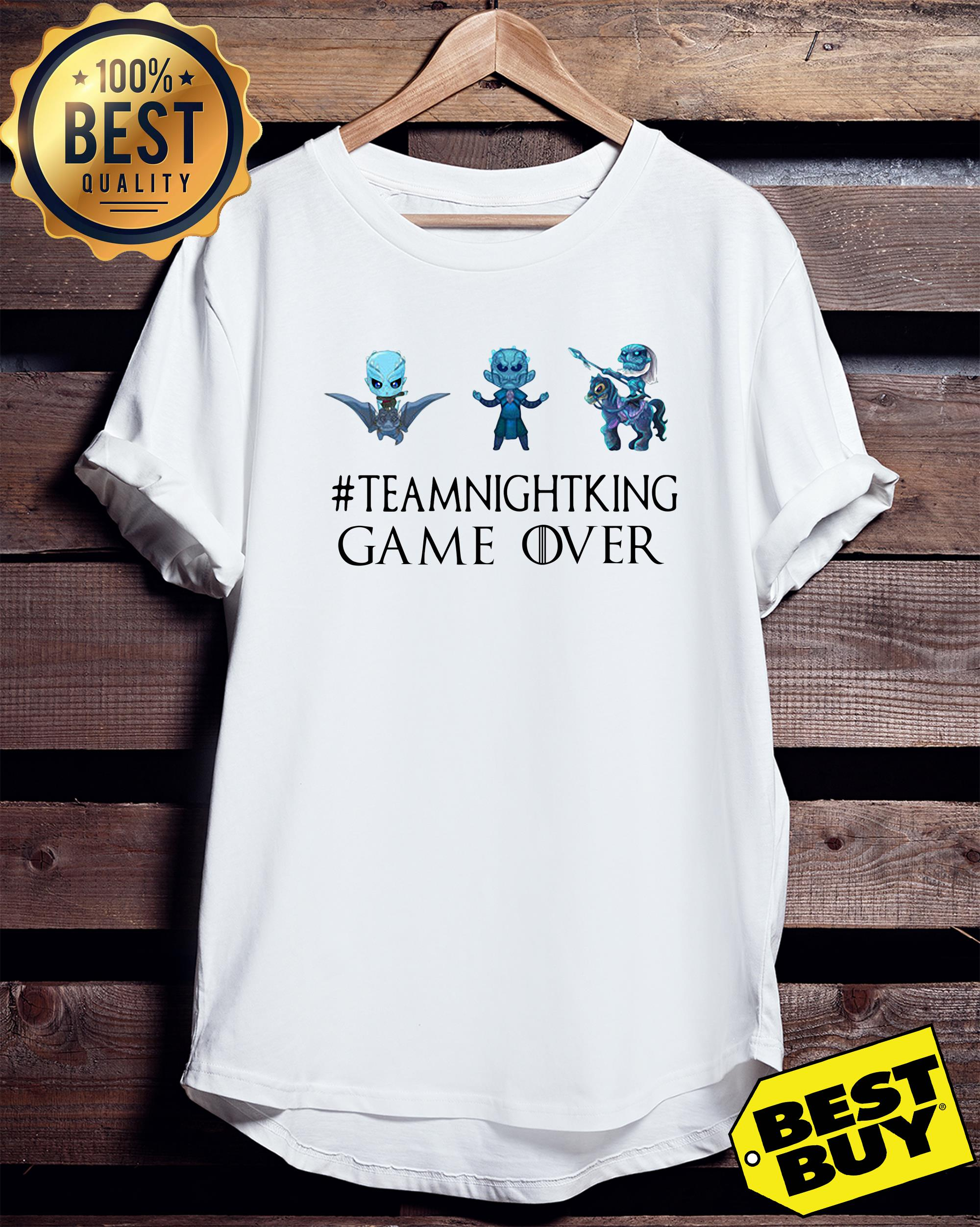 Night King #teamnightking Game over Game of Thrones ladies tee