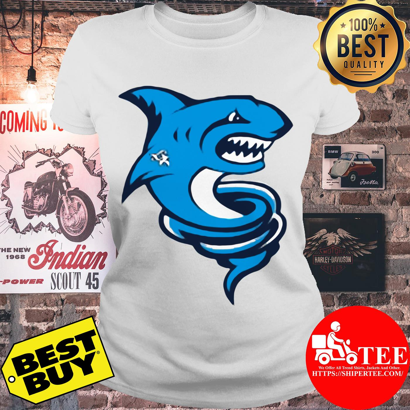 Official Premium Tornado Shark ladies tee