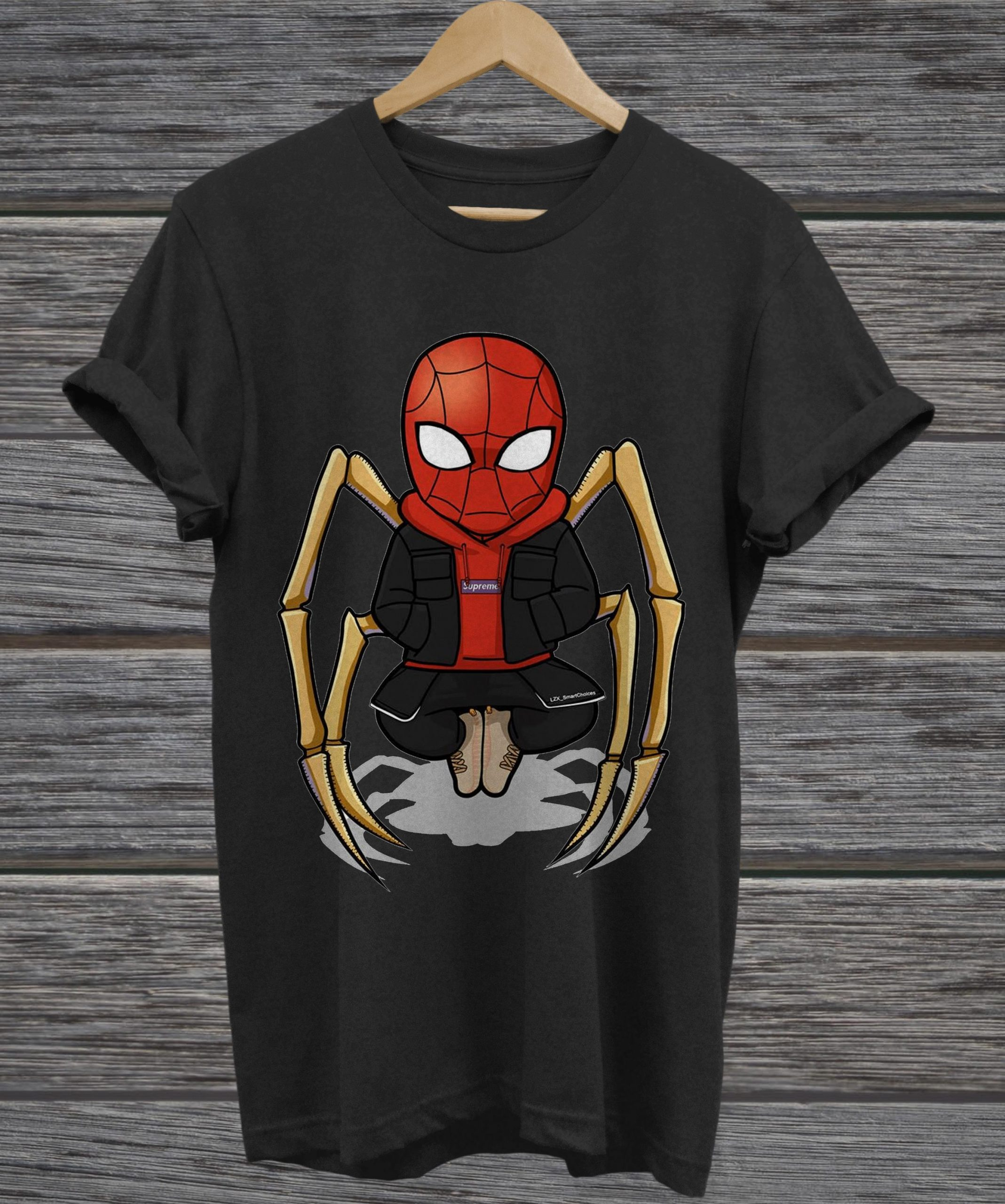 Official spider man skeleton ladies tee