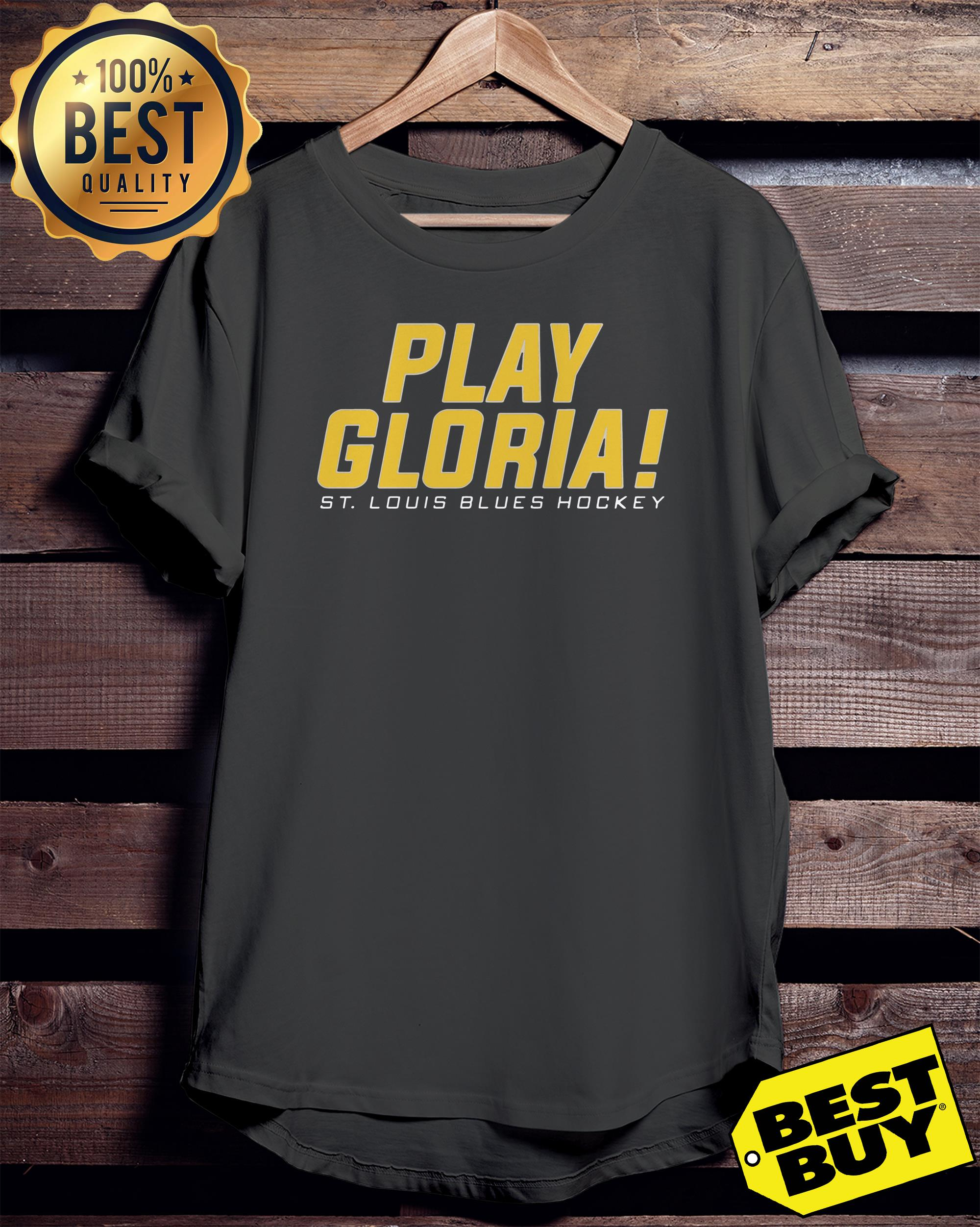 Play gloria st louis blues hockey ladies tee