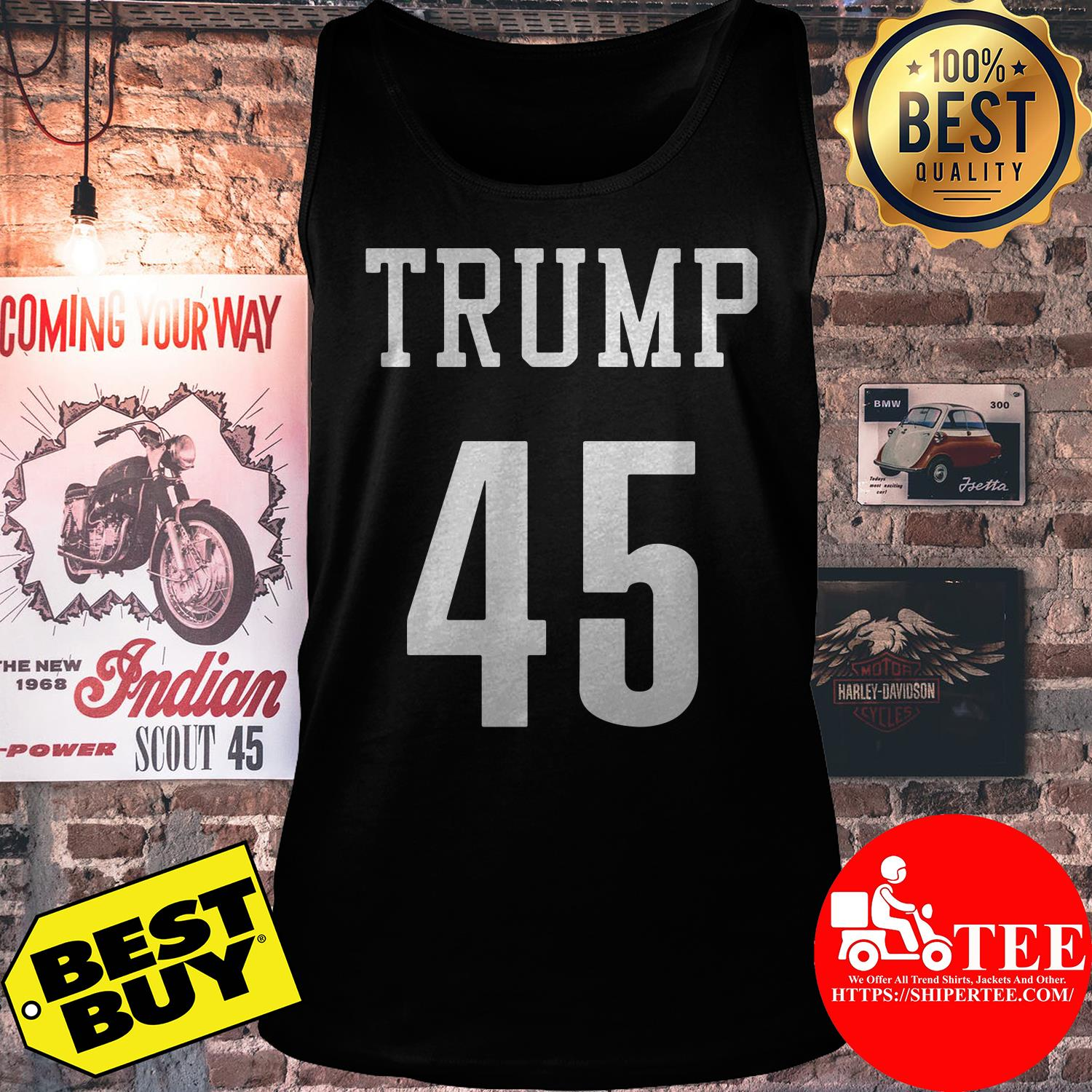 President Donald Trump 45 tank top