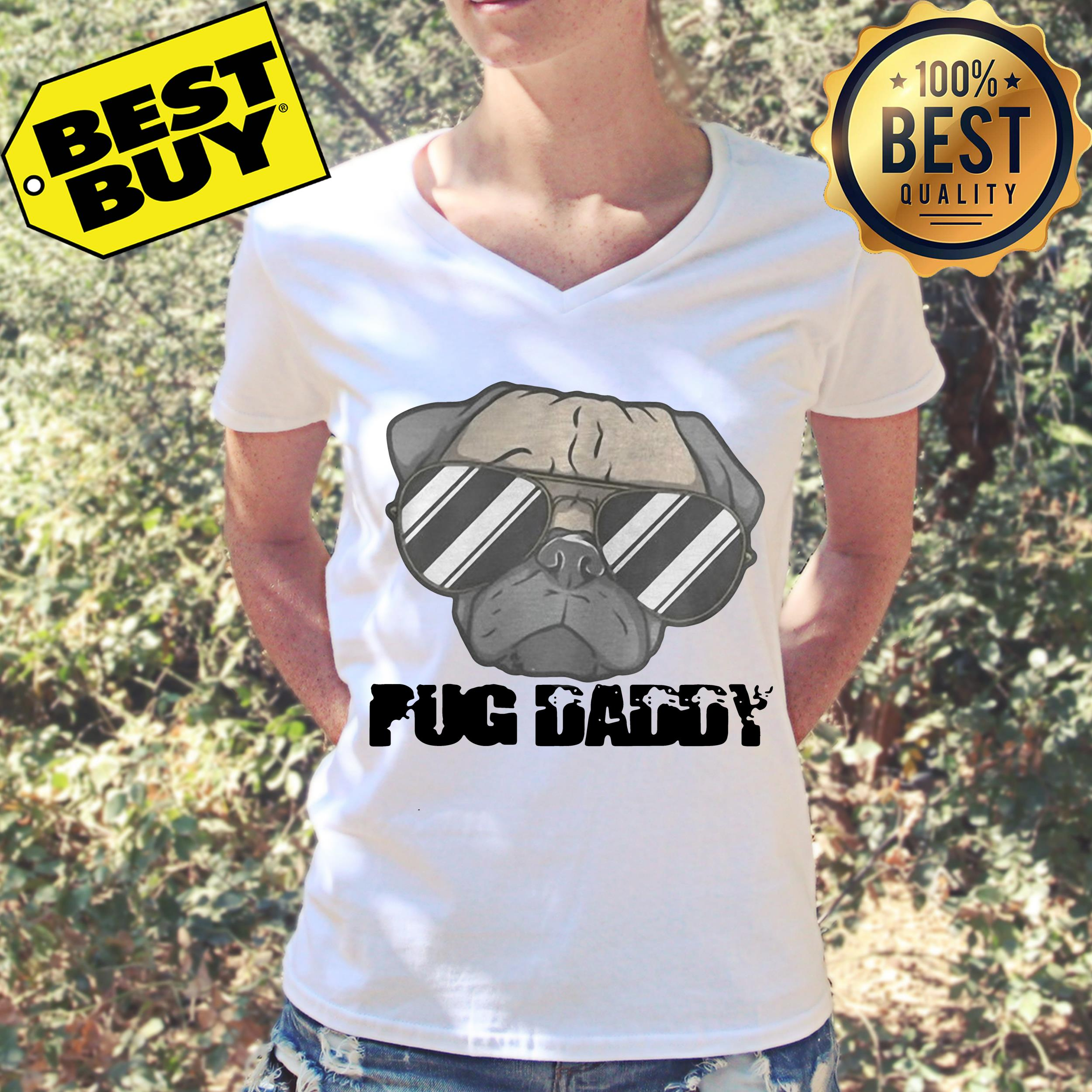 Pug fashion glasses Daddy v-neck