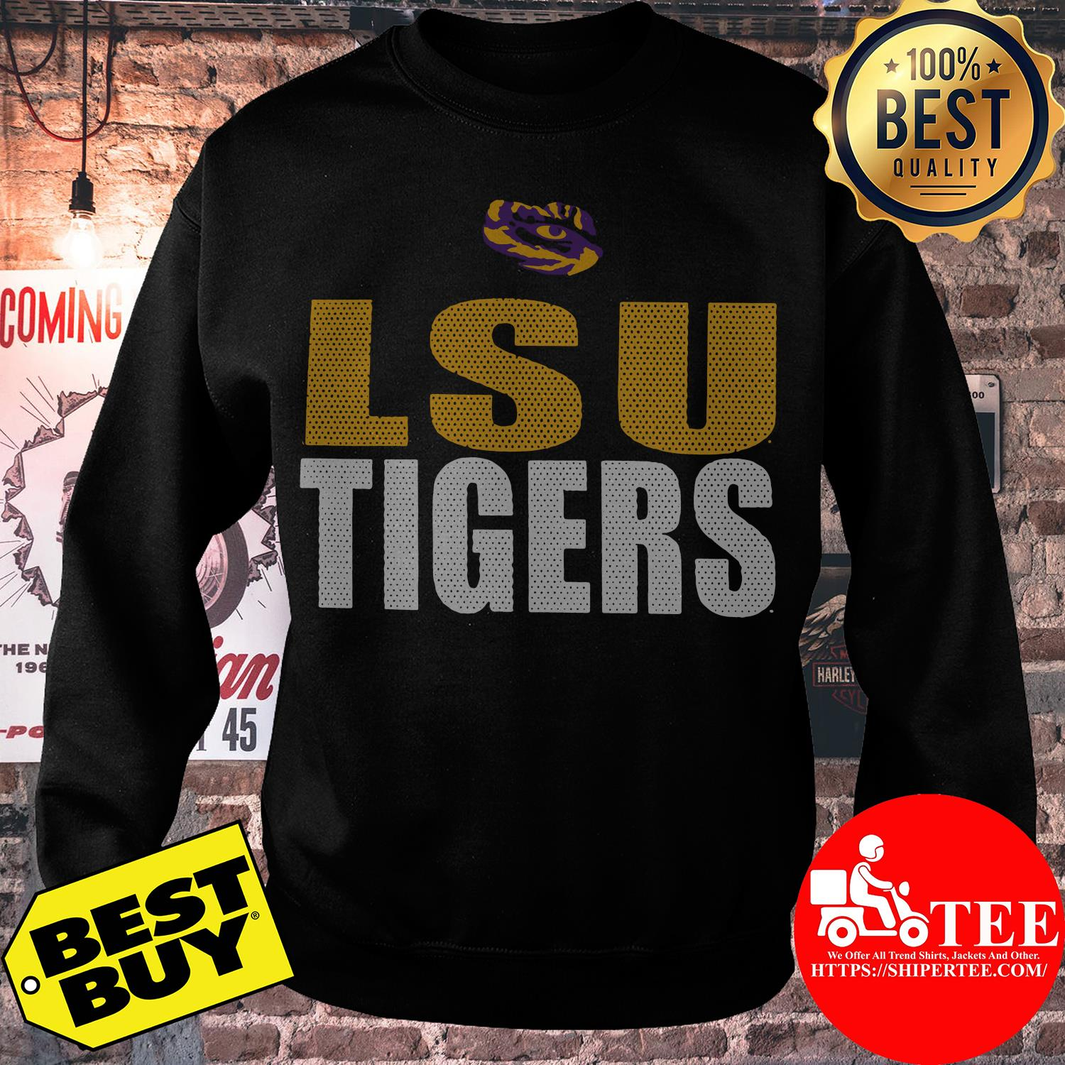 Purple LSU Tigers Logo Legend sweatshirt