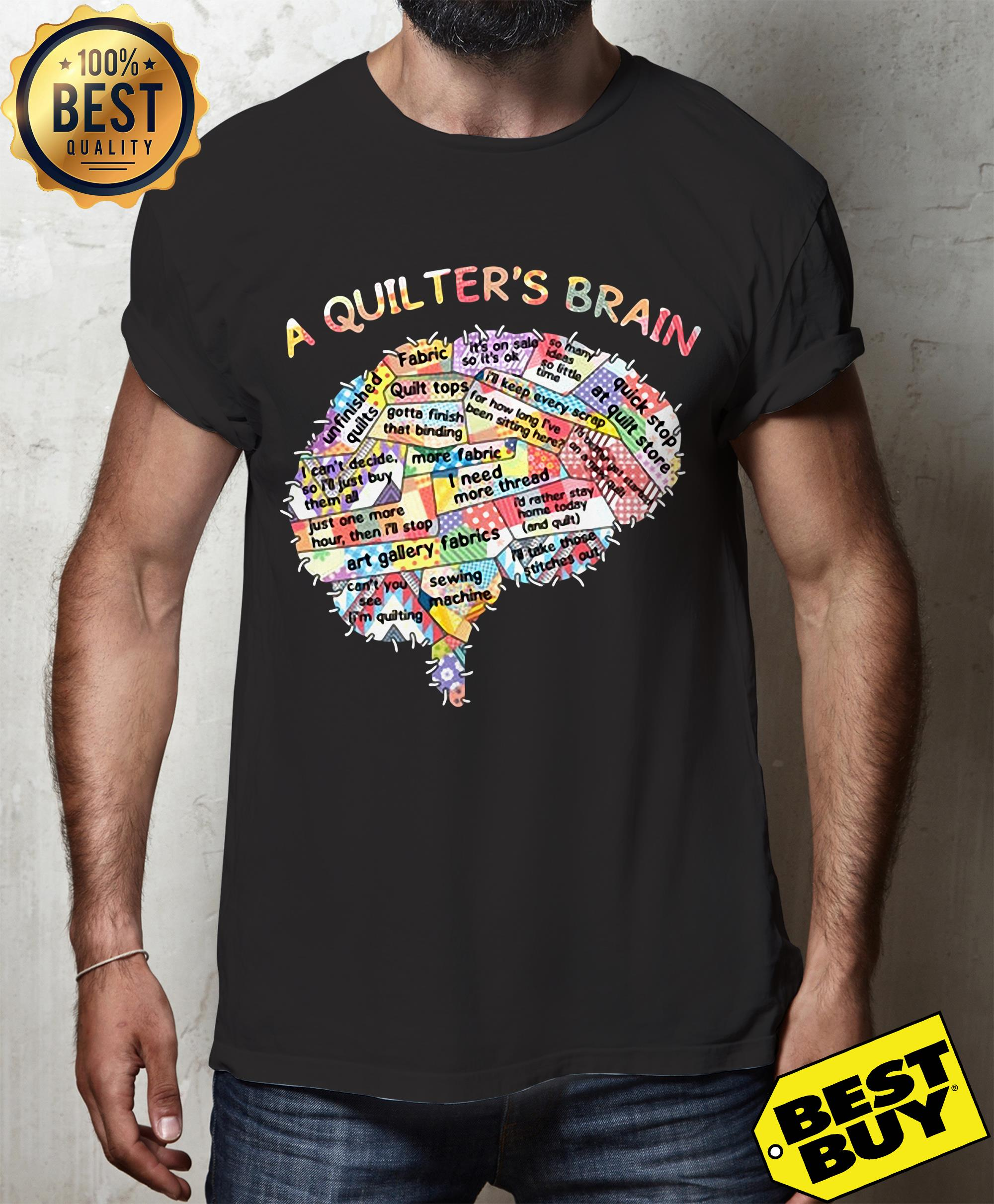 A quilter's brain of people hoodie