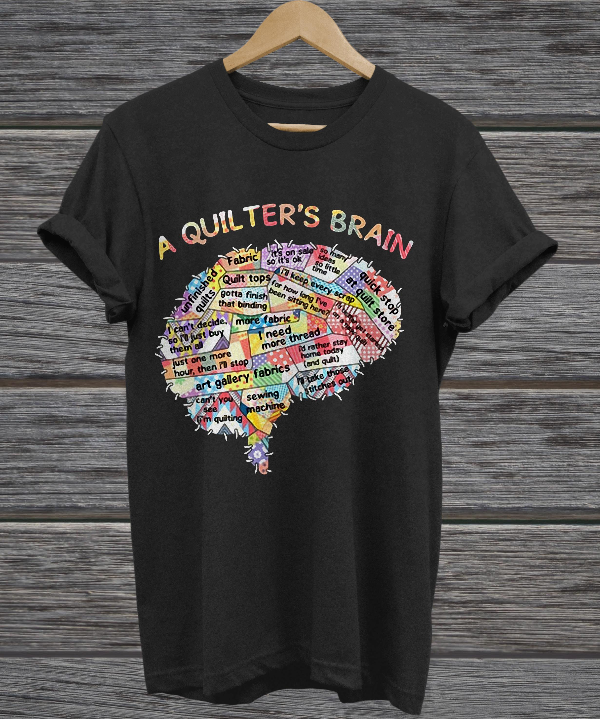 A quilter's brain of people v-neck