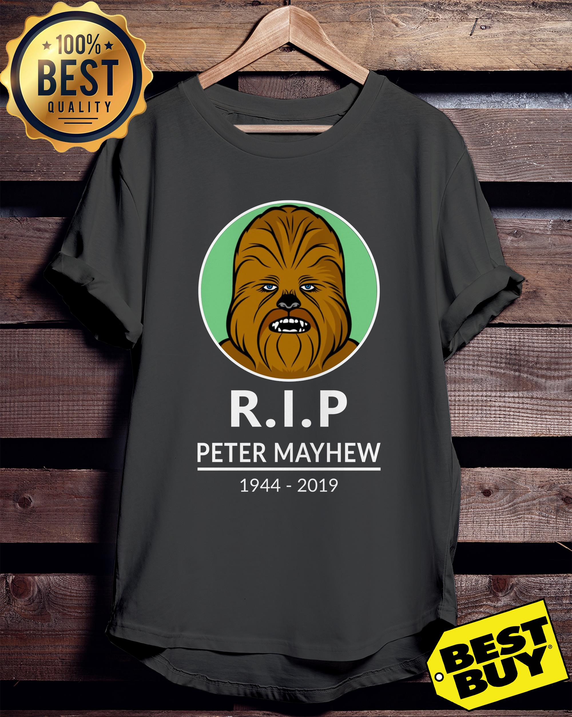 R.I.P Peter Mayhew 1944-2019 Chewbacca Star War ladies tee