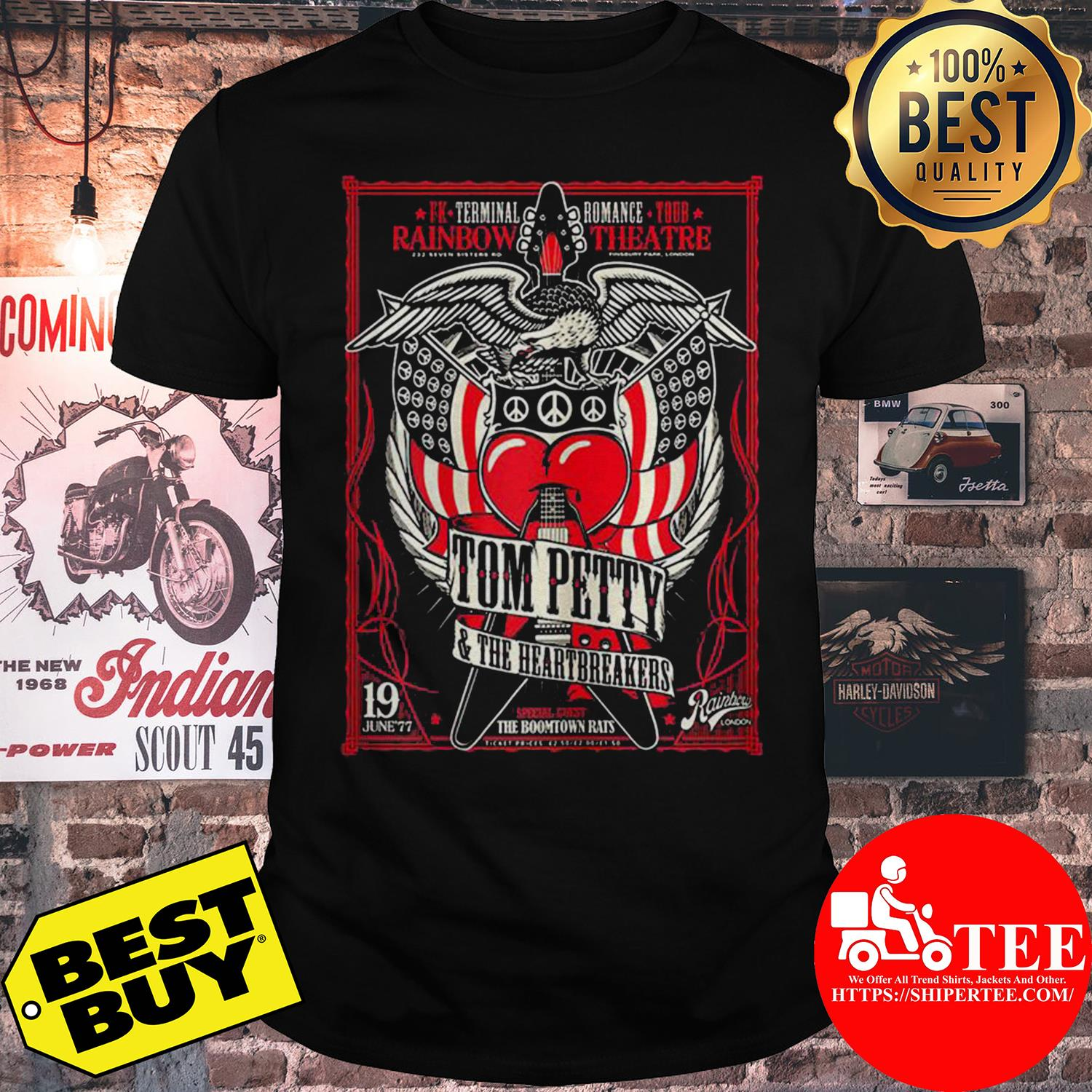 Rainbow theater Tom Petty and the Heartbreakers shirt