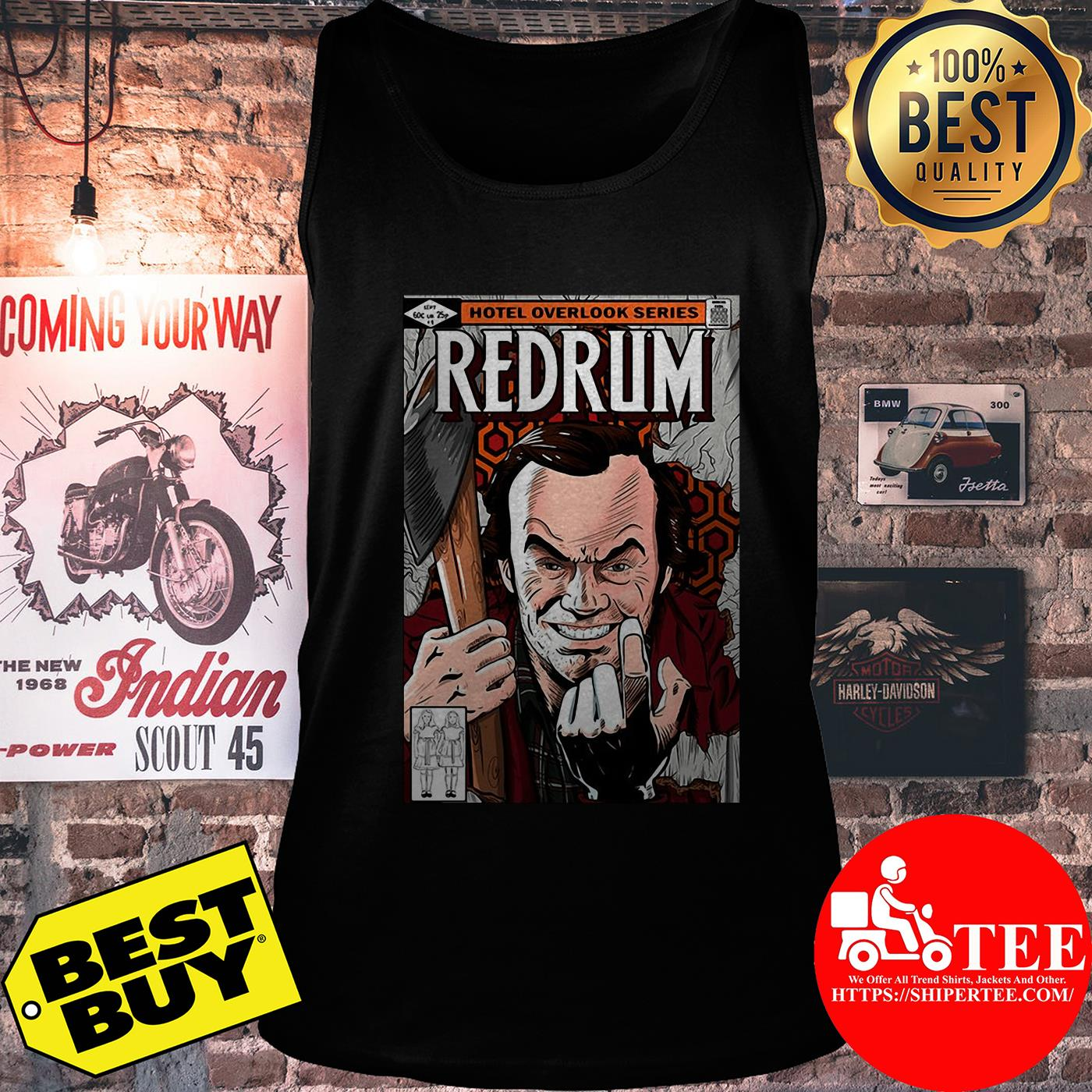 Redrum hotel overlook series by Mariano San tank top