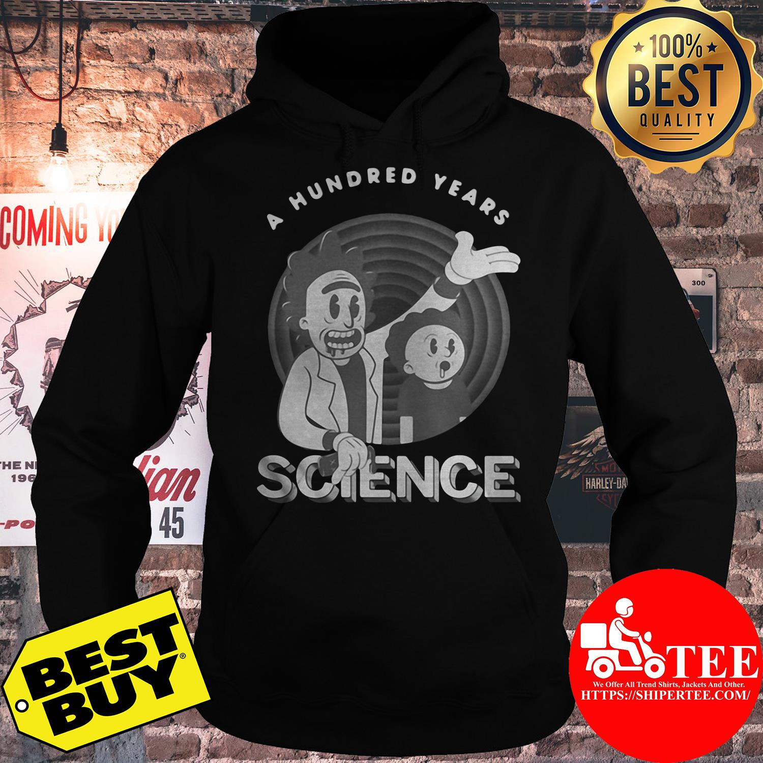 Rick and Morty a hundred years science hoodie