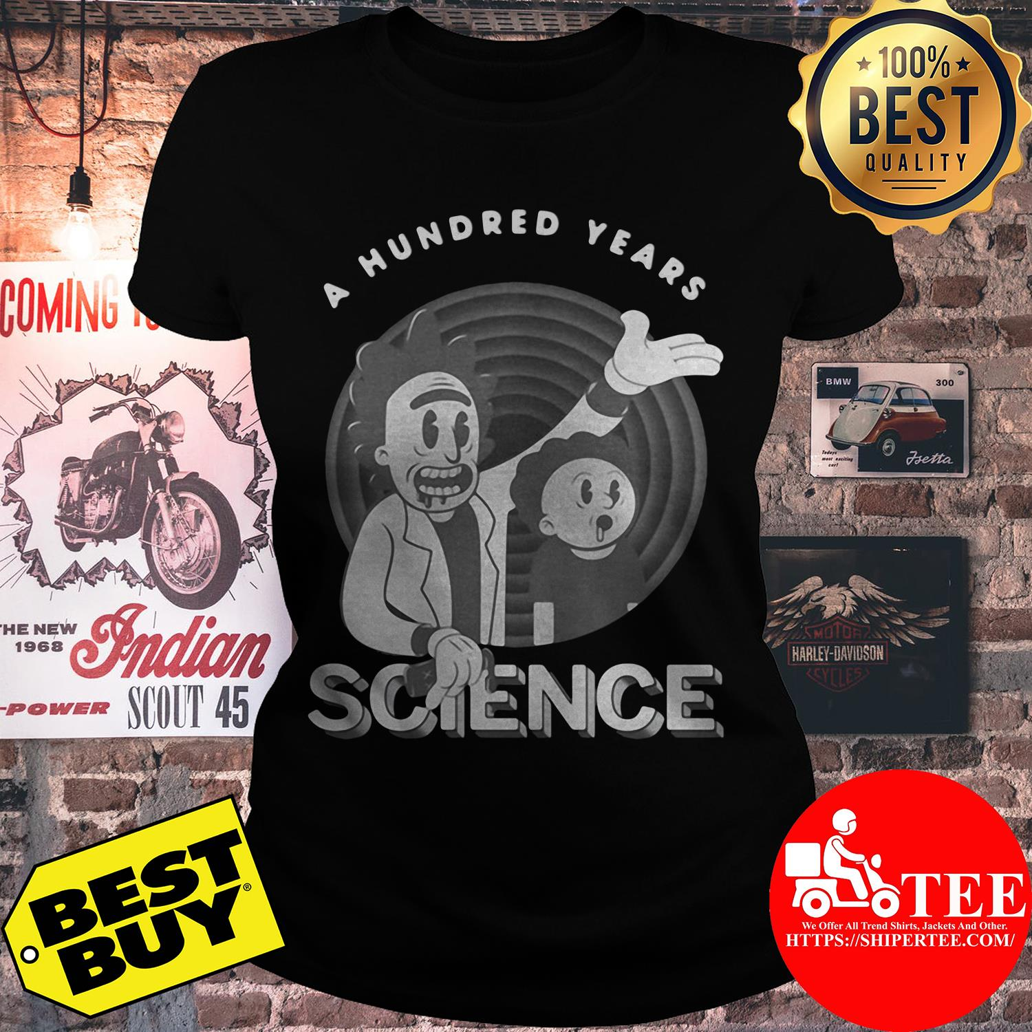 Rick and Morty a hundred years science ladies tee