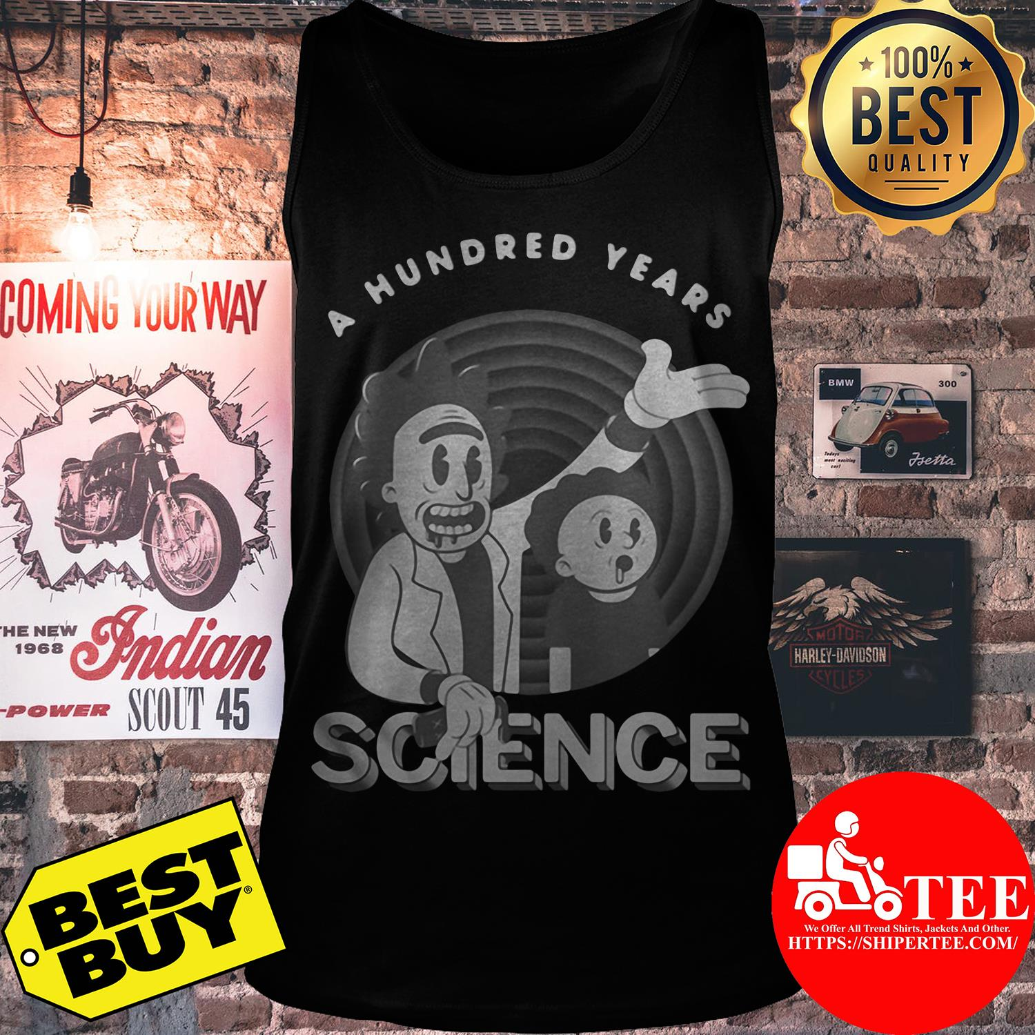 Rick and Morty a hundred years science tank top