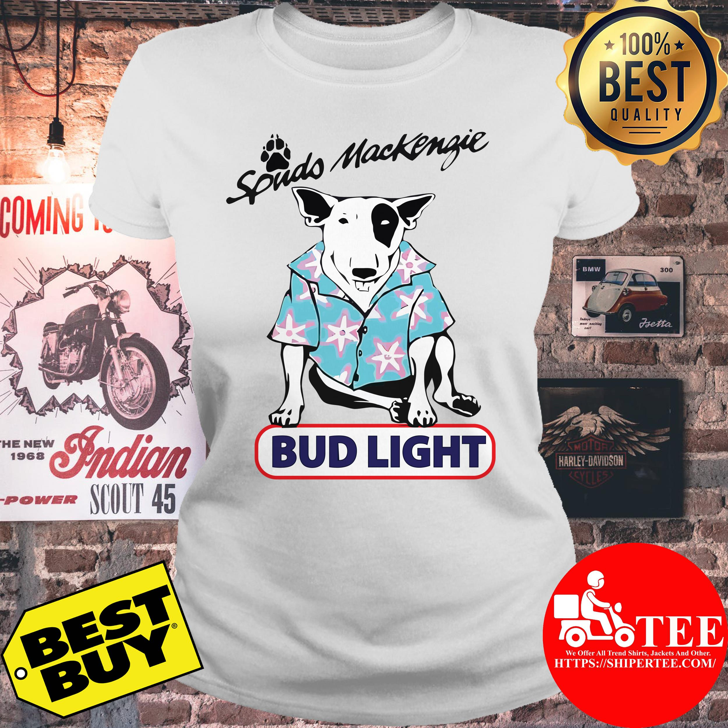 Spuds Mackenzie bud light ladies tee