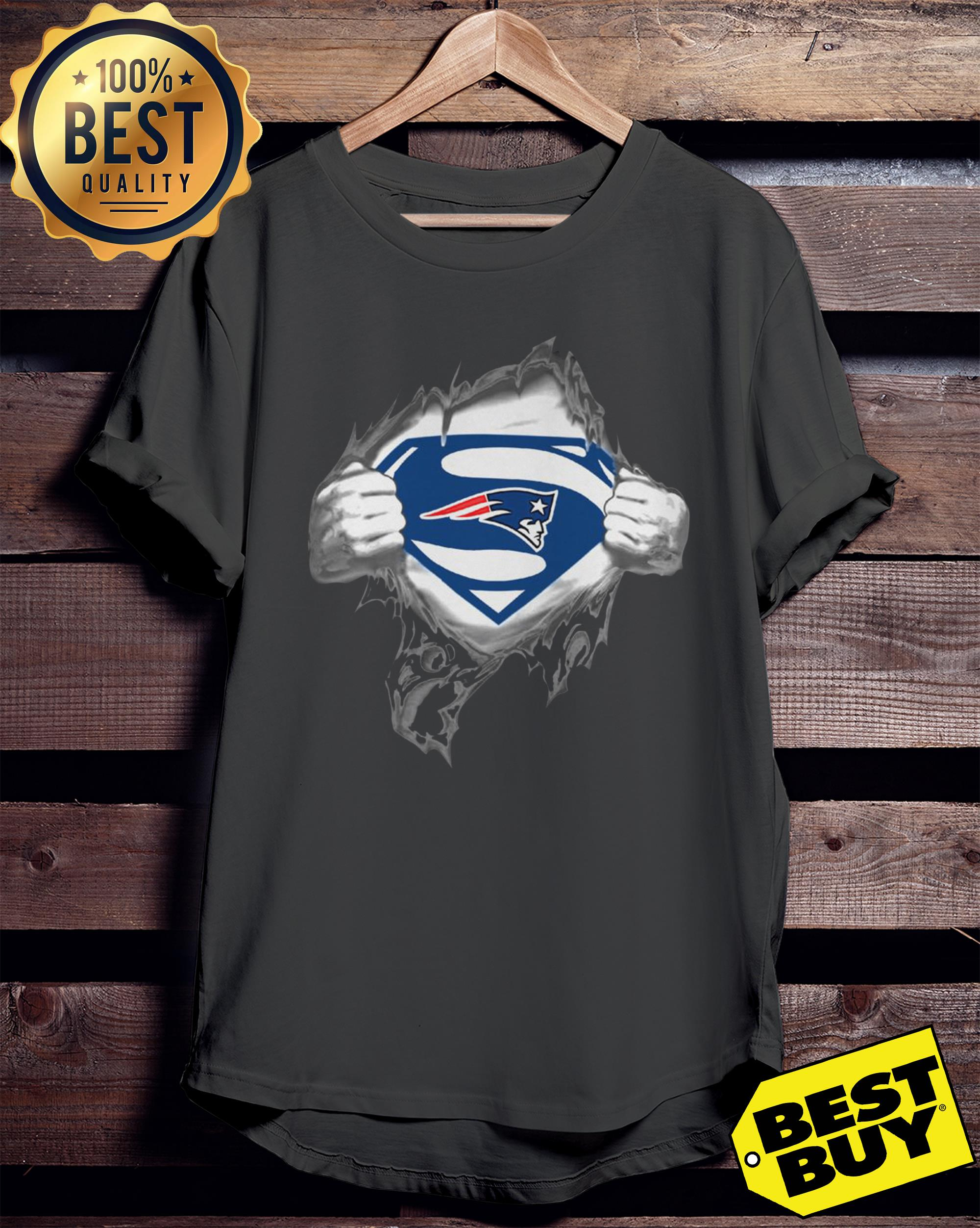 Superman New England Patriots ladies tee