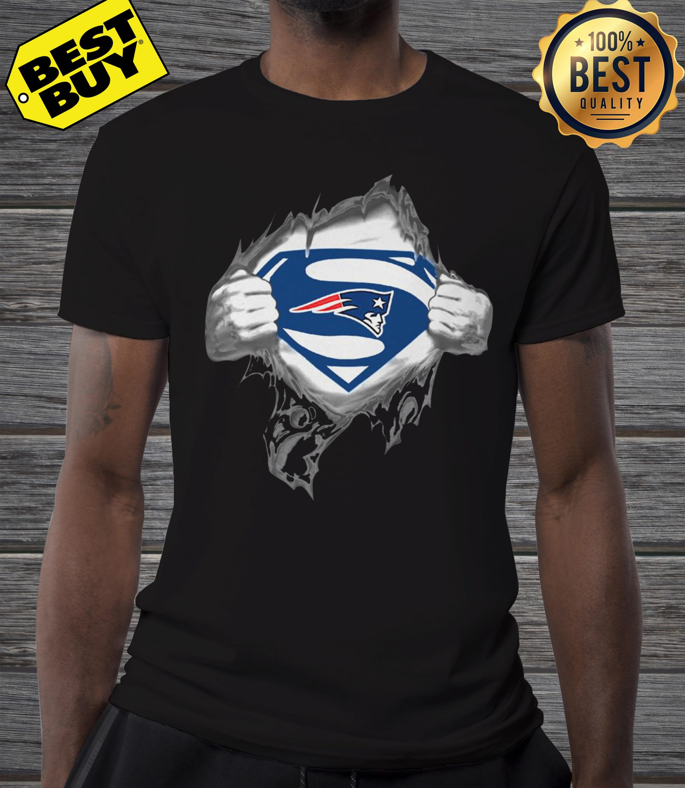 Superman New England Patriots shirt