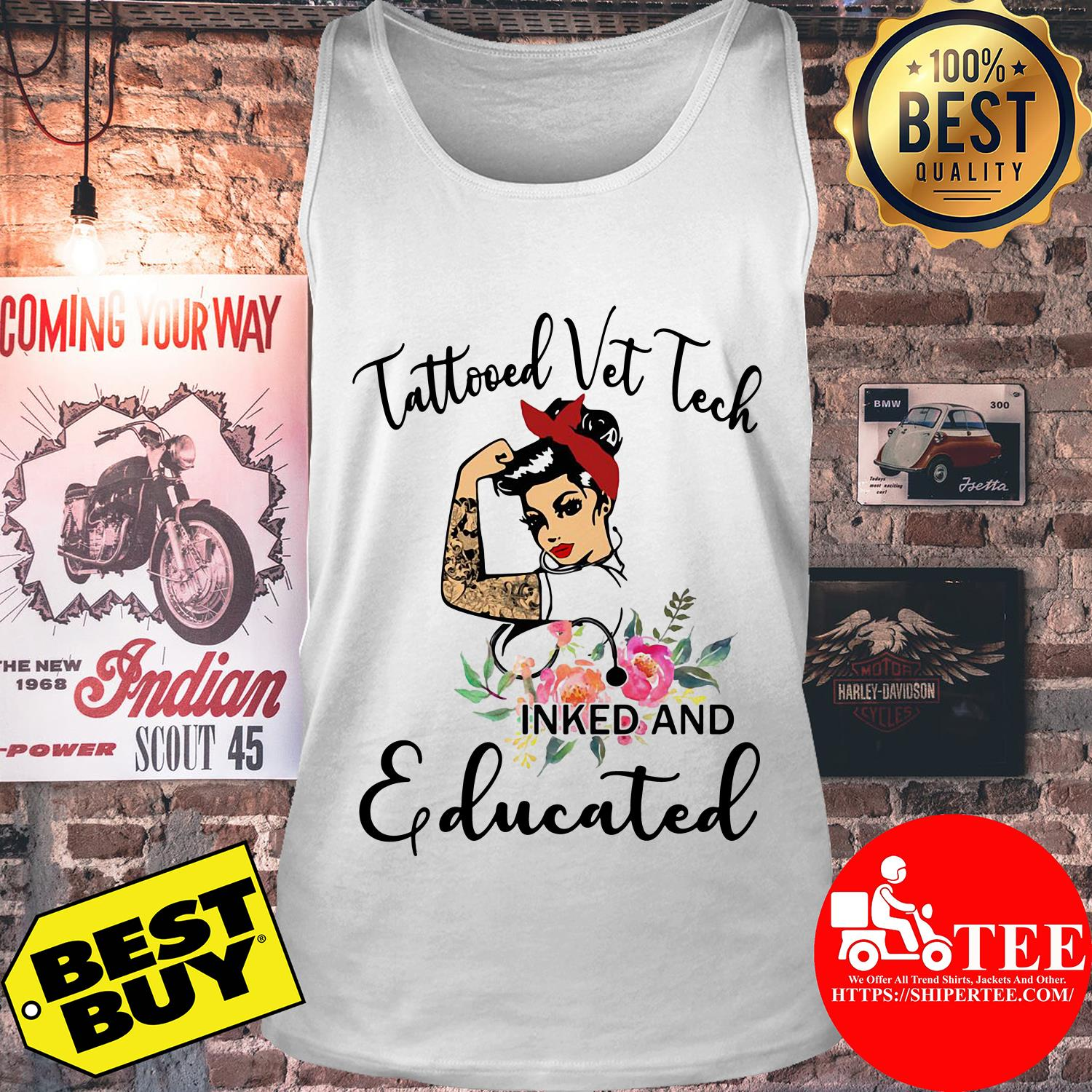 Tattooed vet tech inked and educated tank top