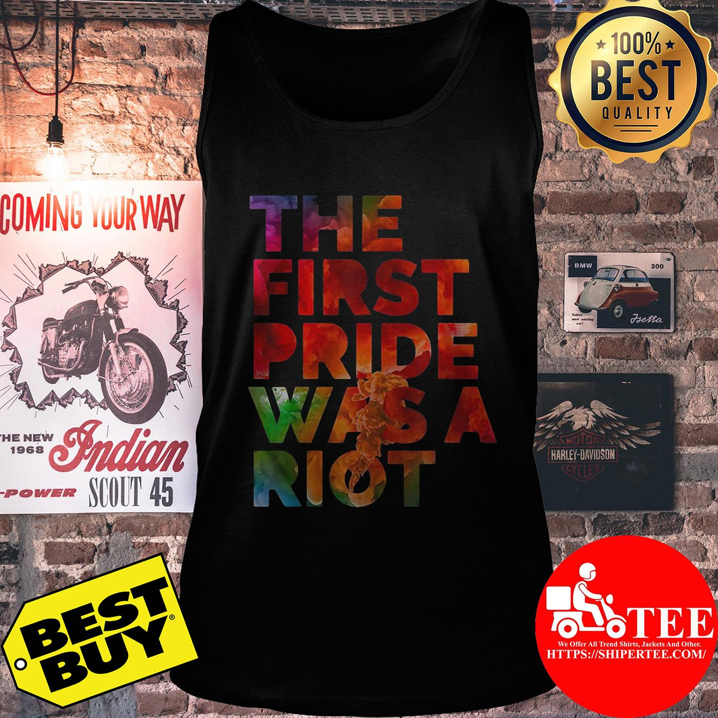 The first pride was a riot tank top