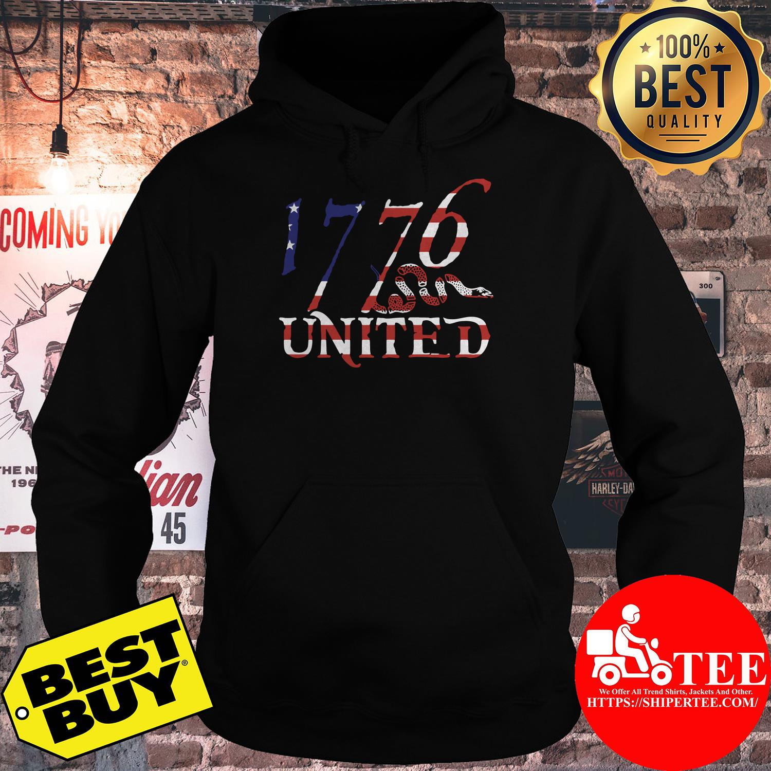 1776 United Logo Tee Betsy Ross Edition Limited hoodie