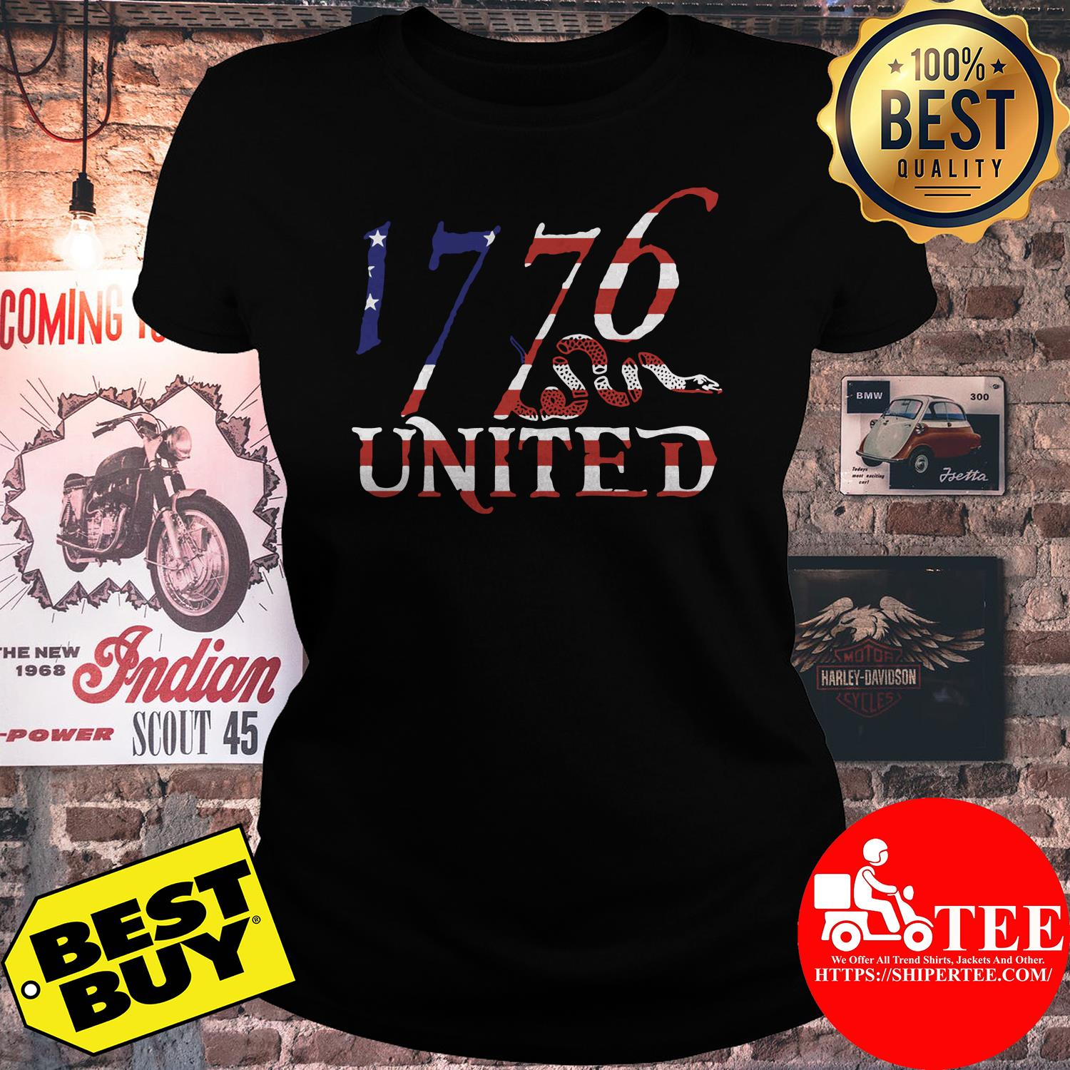 1776 United Logo Tee Betsy Ross Edition Limited ladies tee