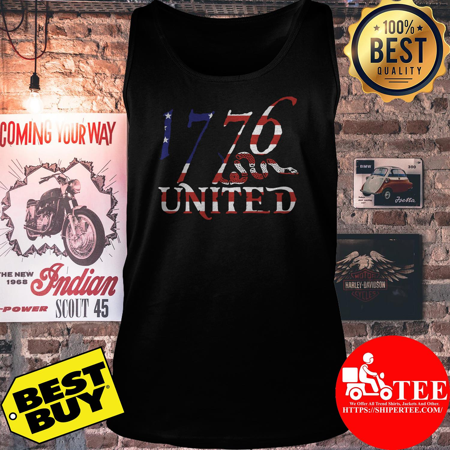 1776 United Logo Tee Betsy Ross Edition Limited tank top