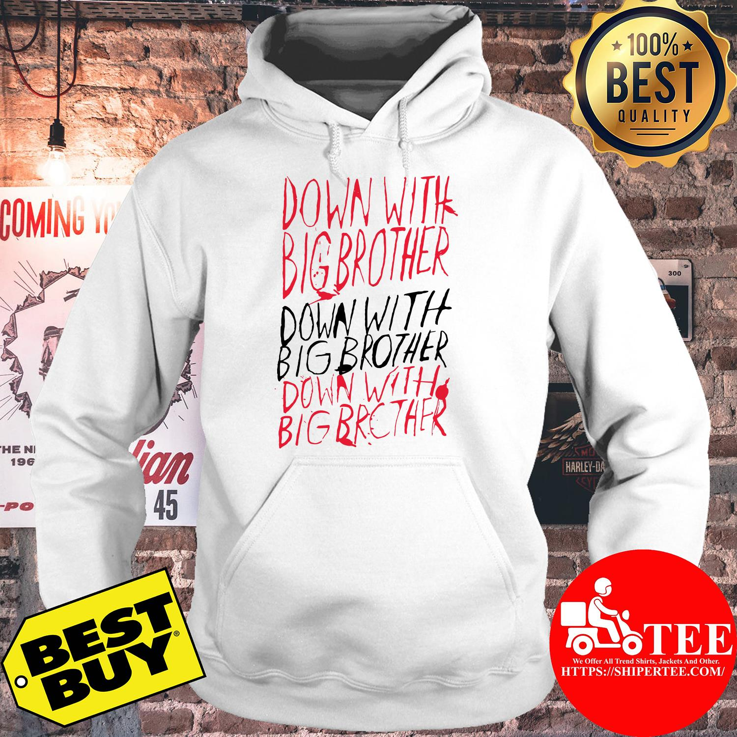 1984-Down with Big Brother hoodie