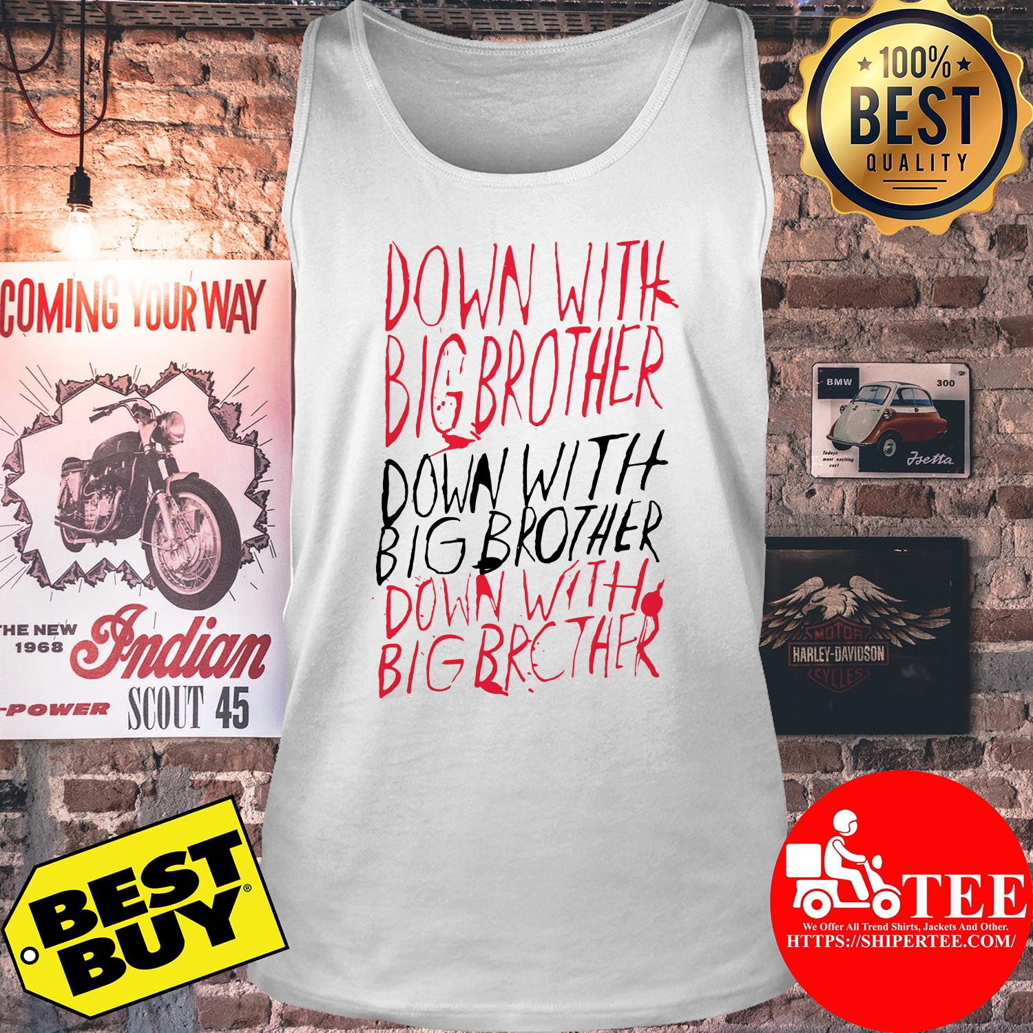 1984-Down with Big Brother tank top