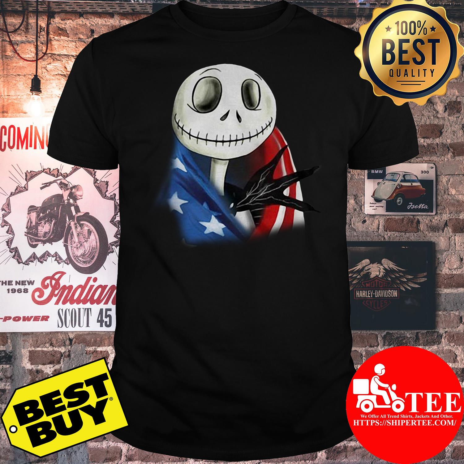 4th July independence day Skellington capes American flag shirt