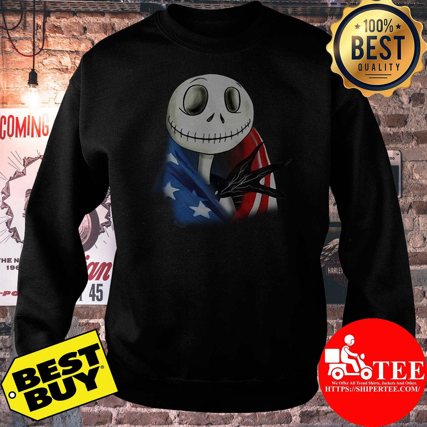 4th July independence day Skellington capes American flag sweatshirt