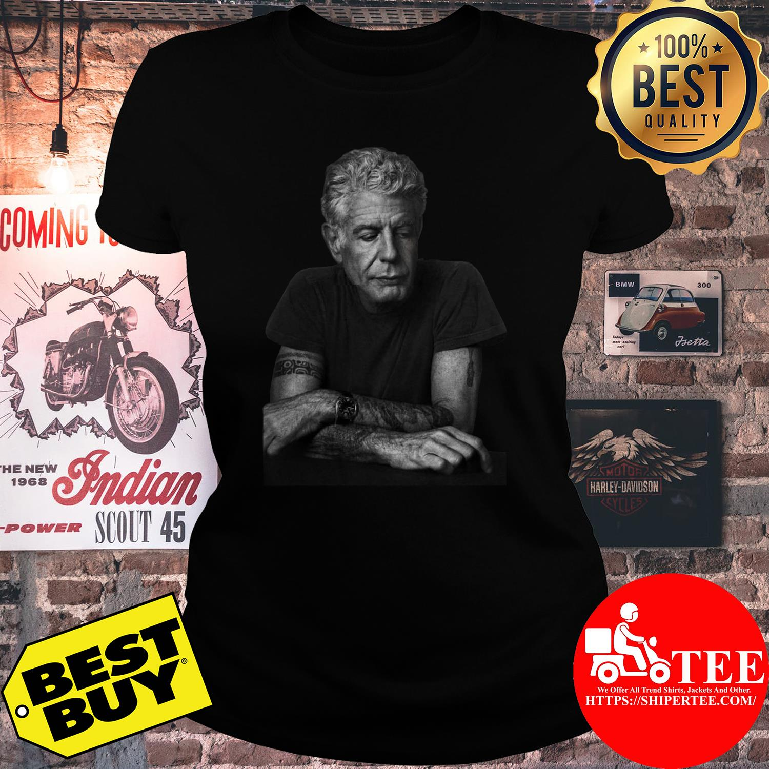 Anthony Bourdain Gildan Father's Day Gift ladies tee
