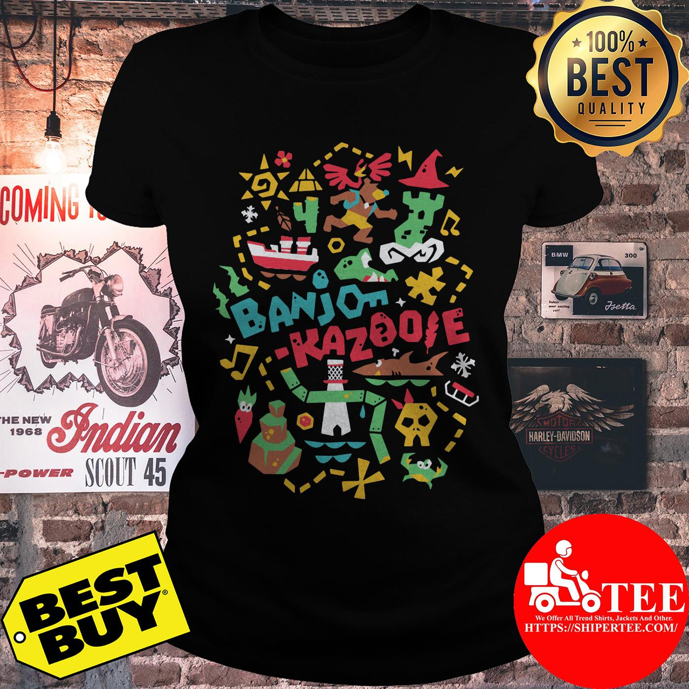 Banjo-Kazooie Banjo's Adventure ladies tee