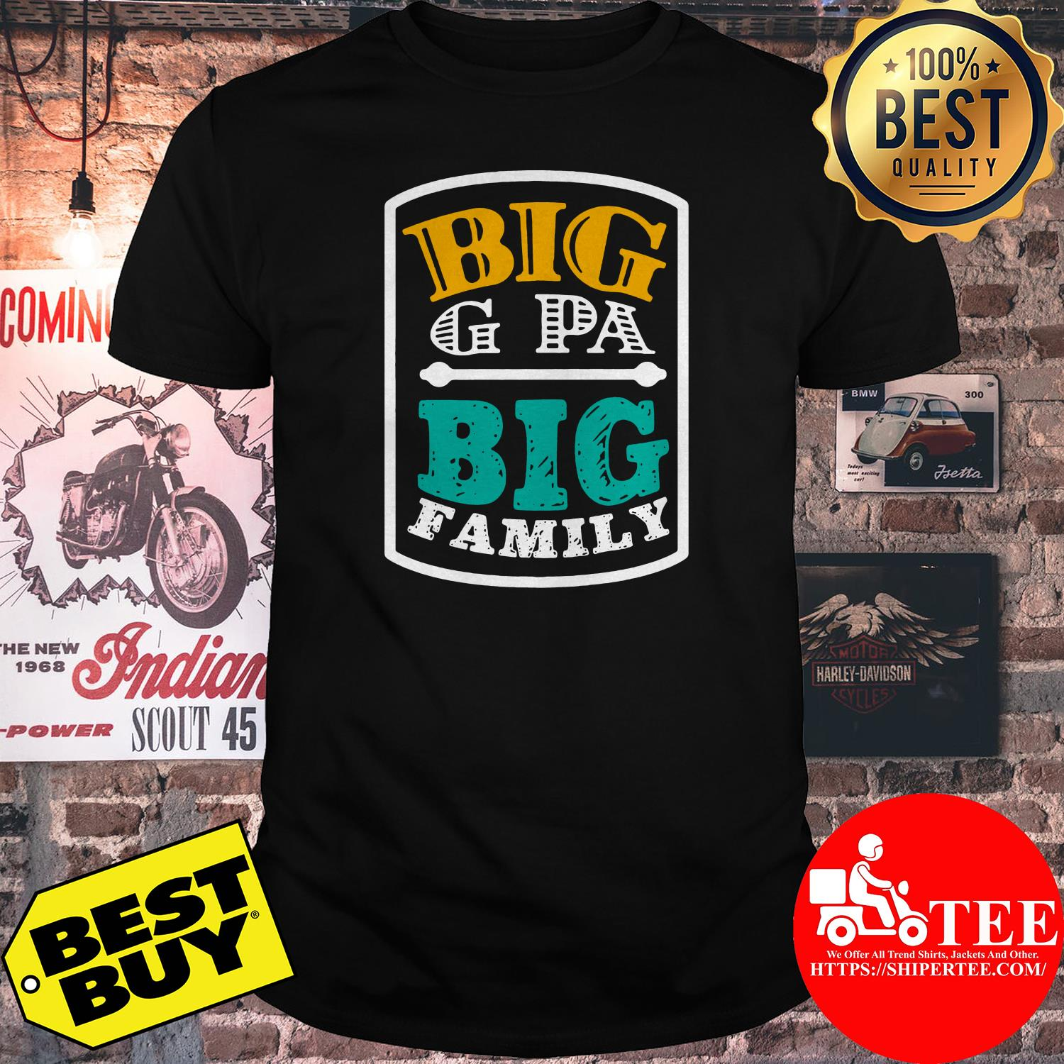 Big G Pa big family shirt
