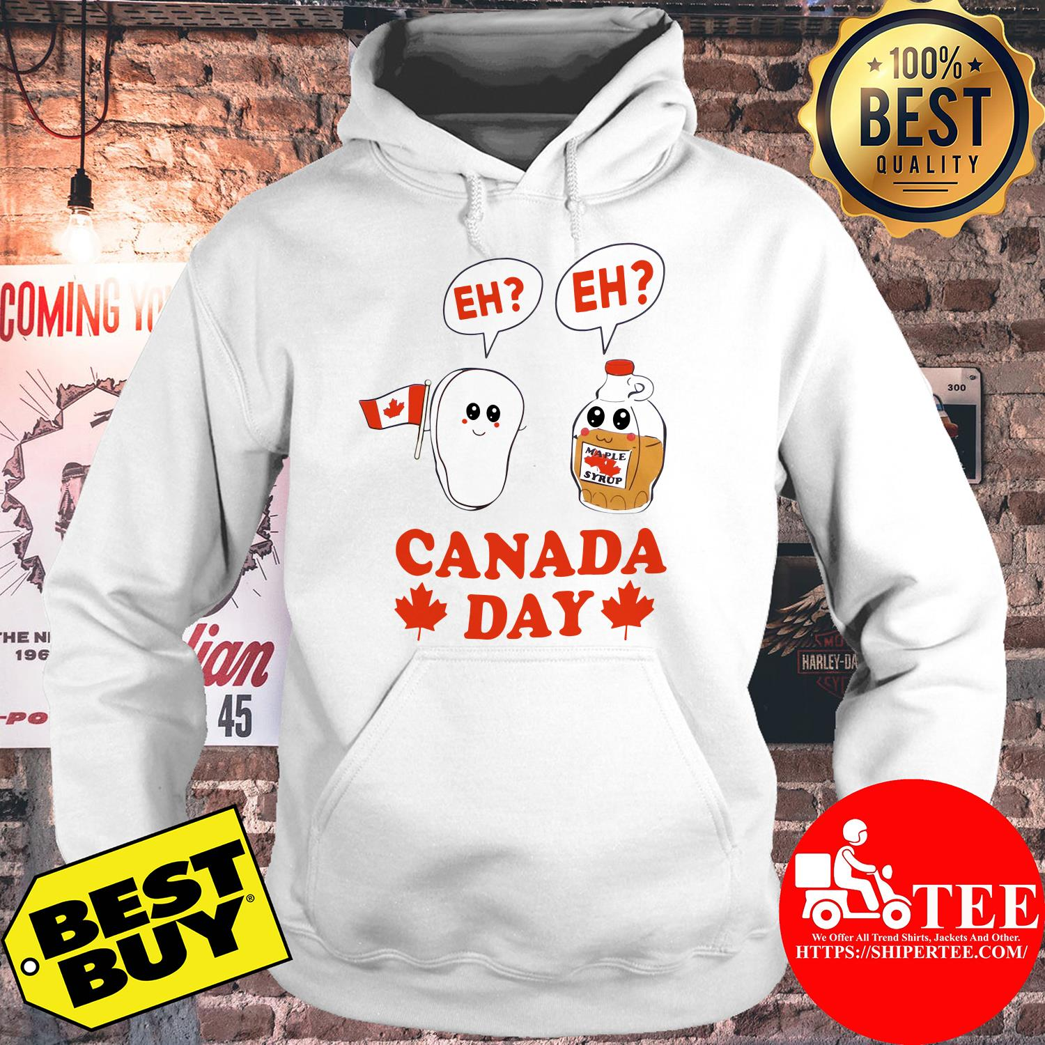 Canada day eh maple syrup and Canadian bacon flag hoodie