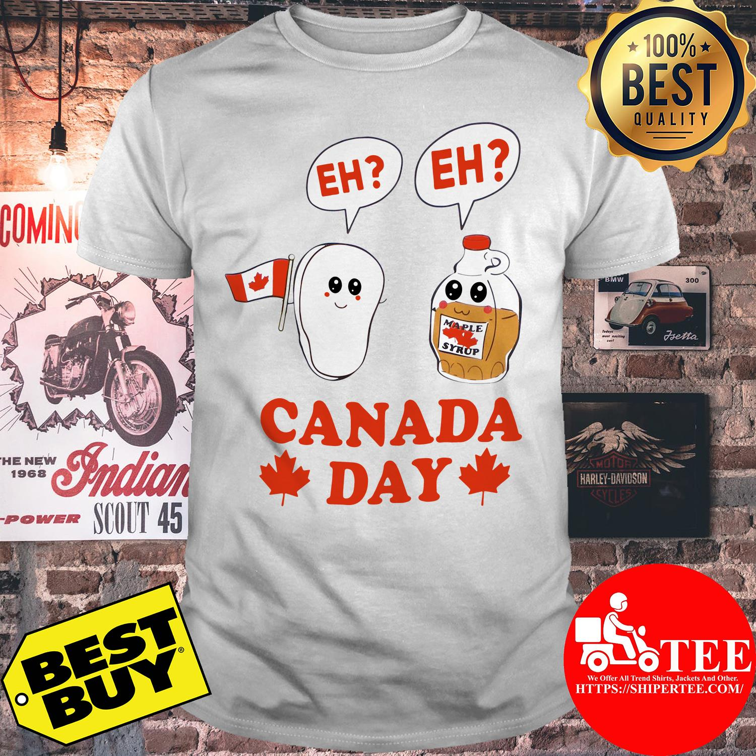Canada day eh maple syrup and Canadian bacon flag shirt