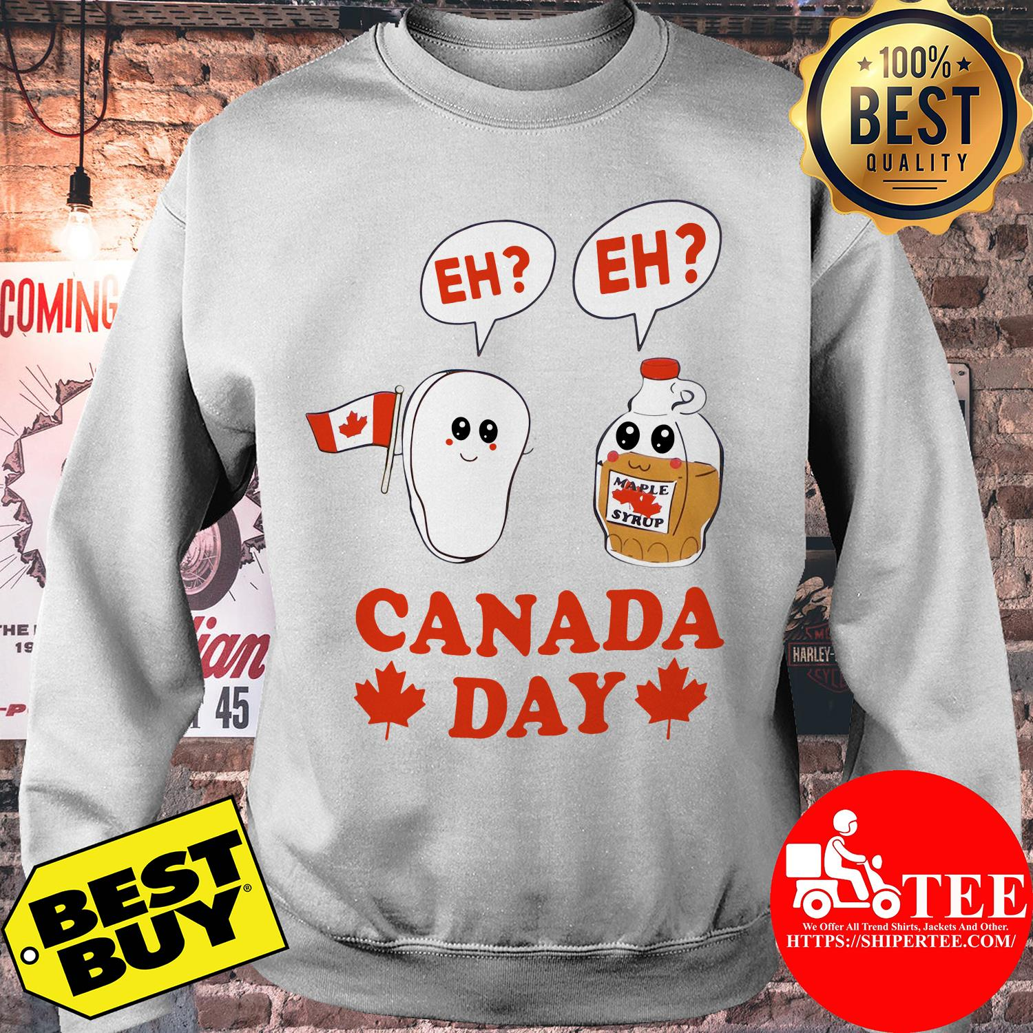 Canada day eh maple syrup and Canadian bacon flag sweatshirt