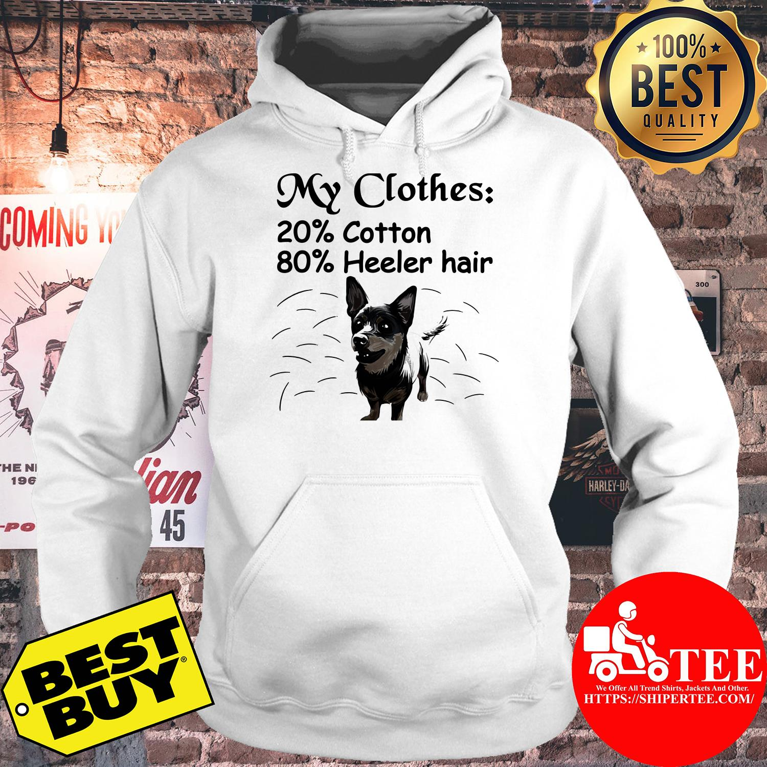 My clothes 20 cotton 80 Heller hair hoodie