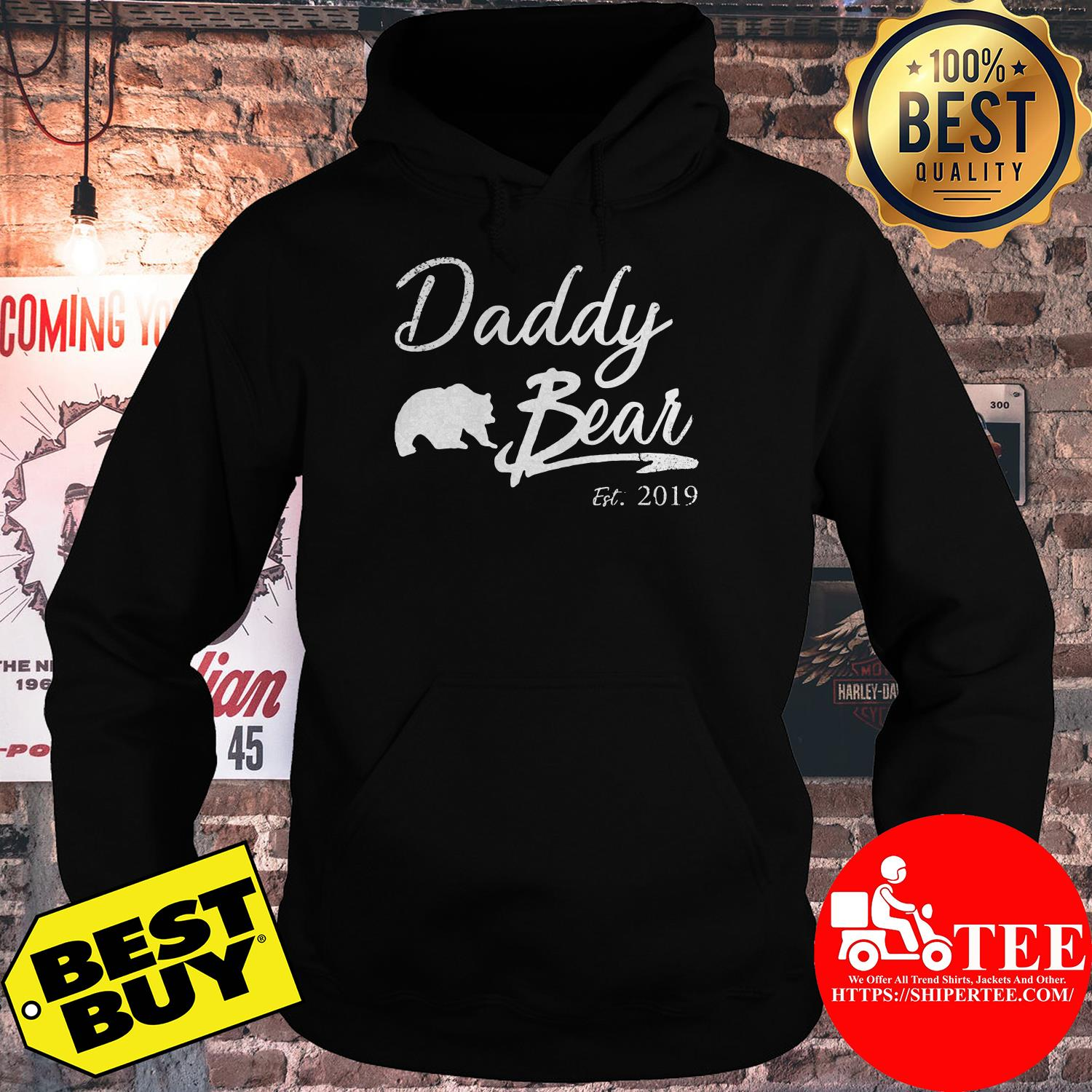 Daddy Bear Est. 2019 For Father Day hoodie