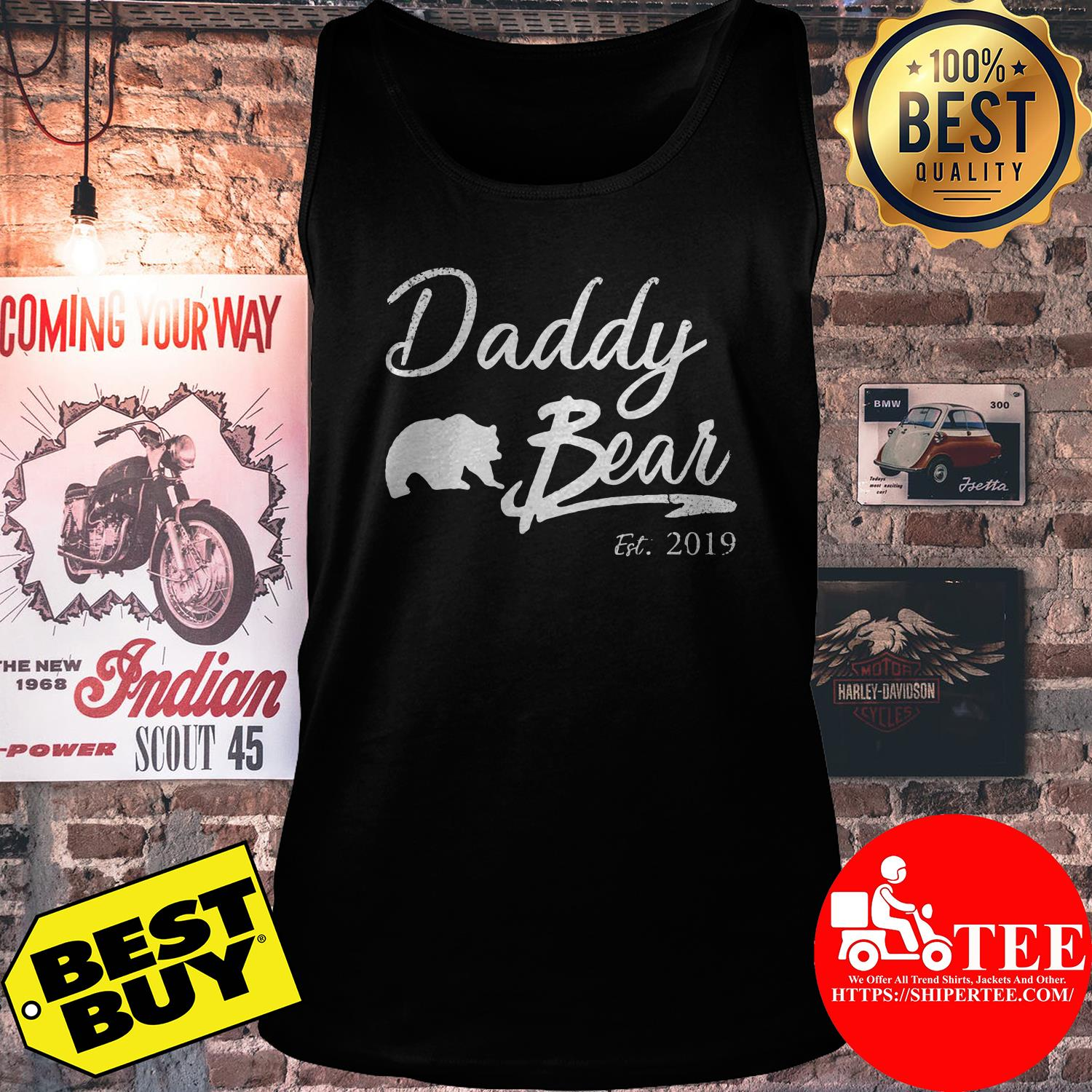 Daddy Bear Est. 2019 For Father Day tank top