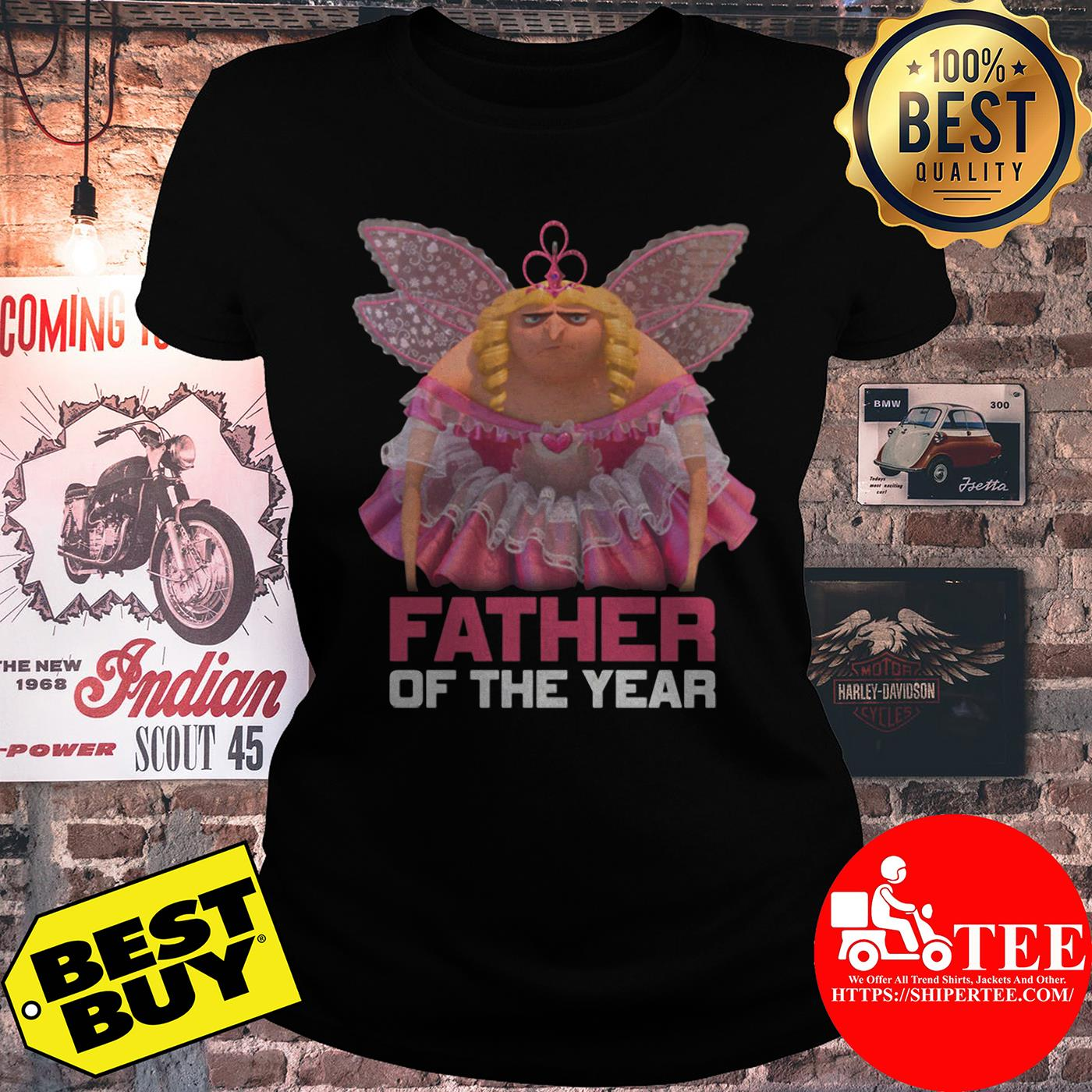 Despicable Me Father of the Year Fairy Gru Shirt