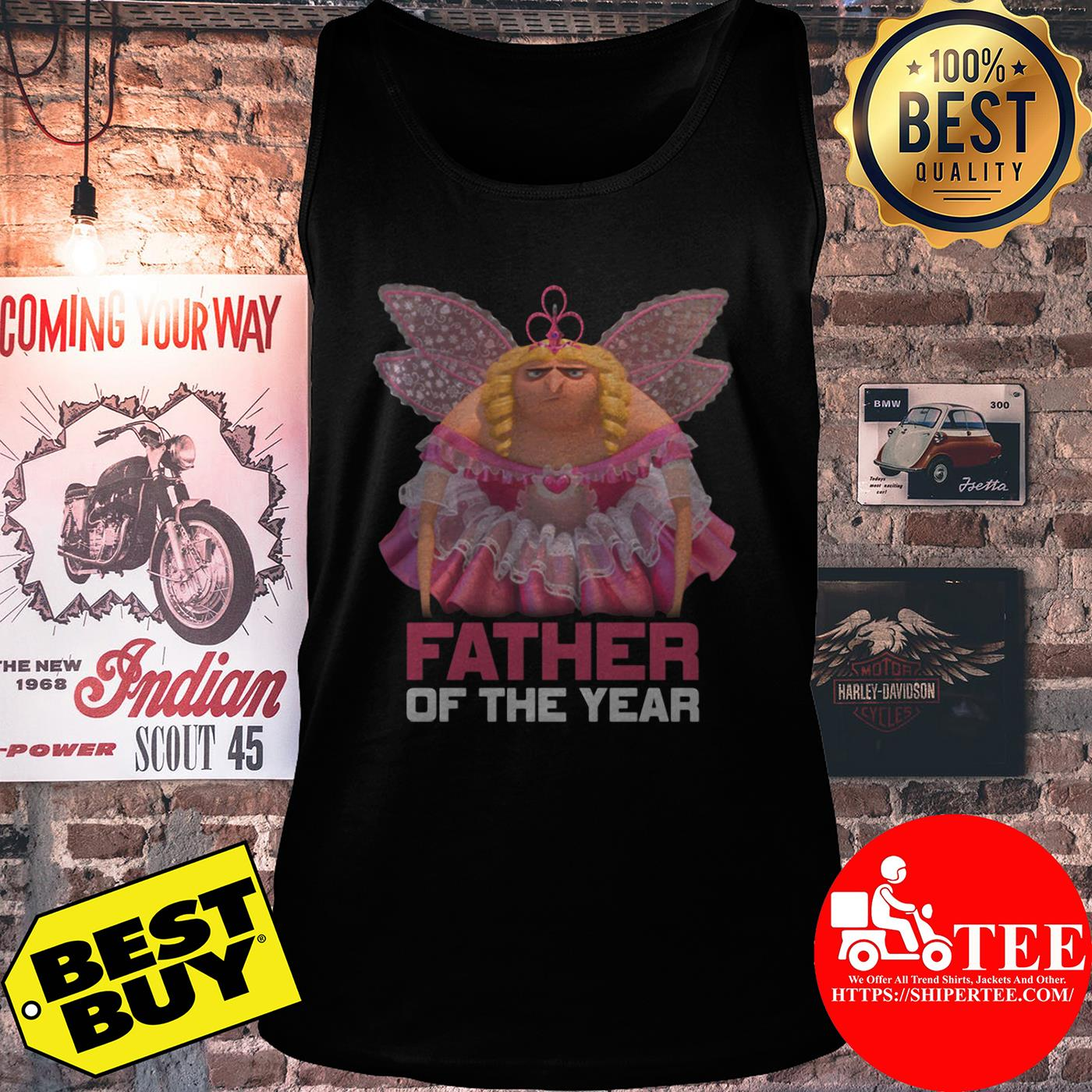 Despicable Me Father of the Year Fairy Gru tank top