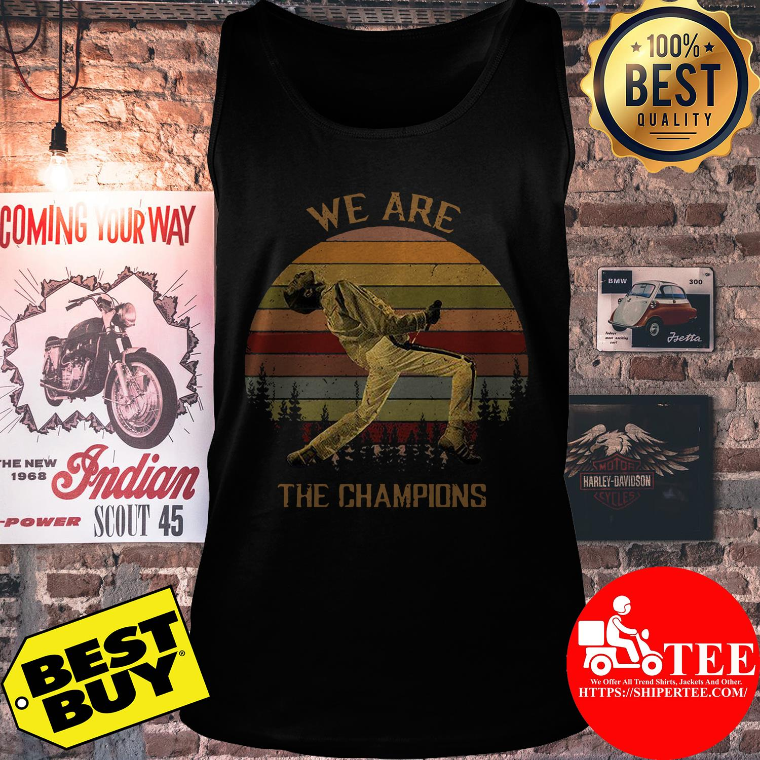 Freddie Mercury We are the champions trees vintage shirt