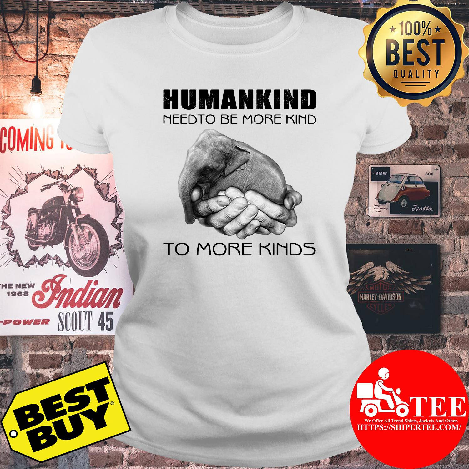 Humankind need to be more kind ladies tee