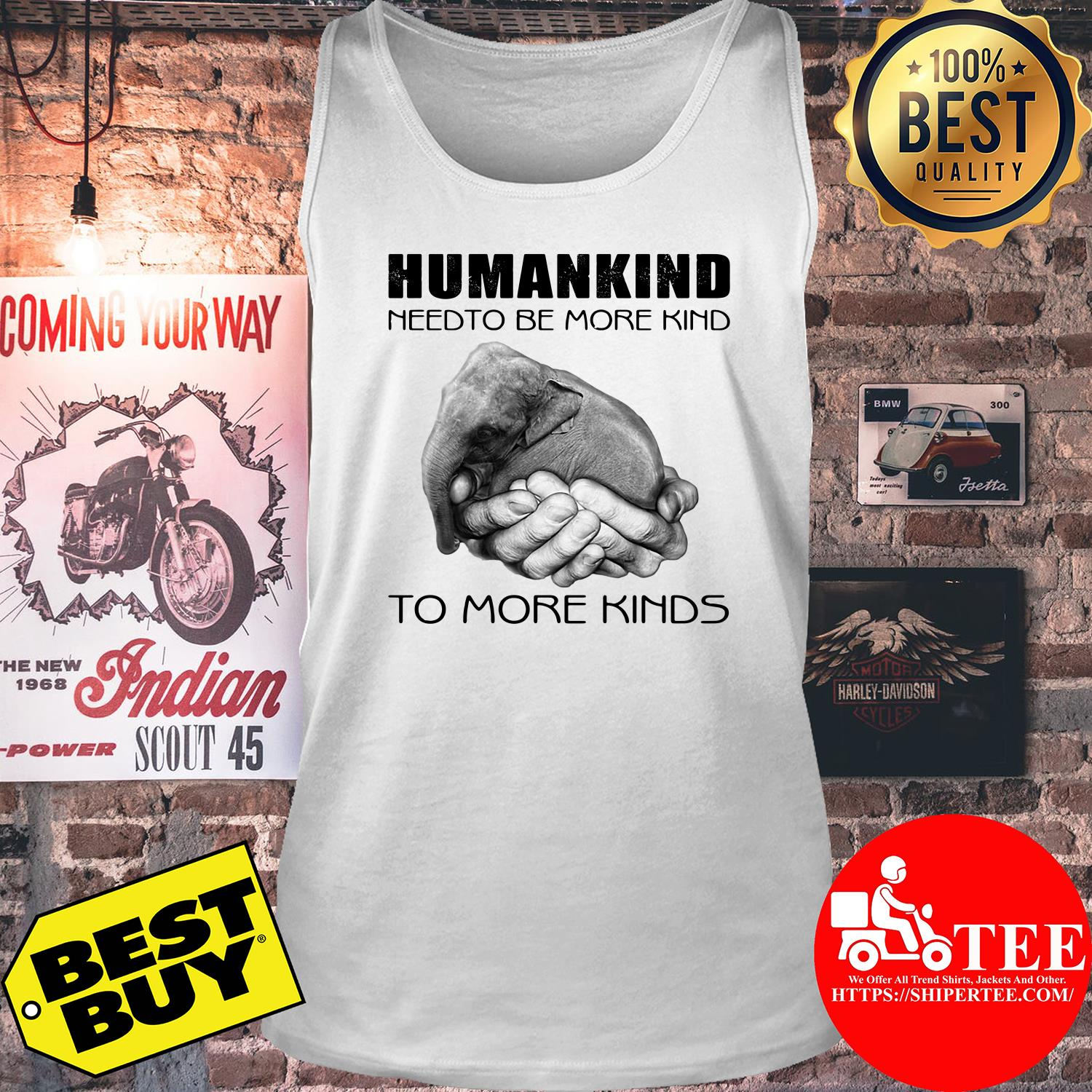 Humankind need to be more kind tank top